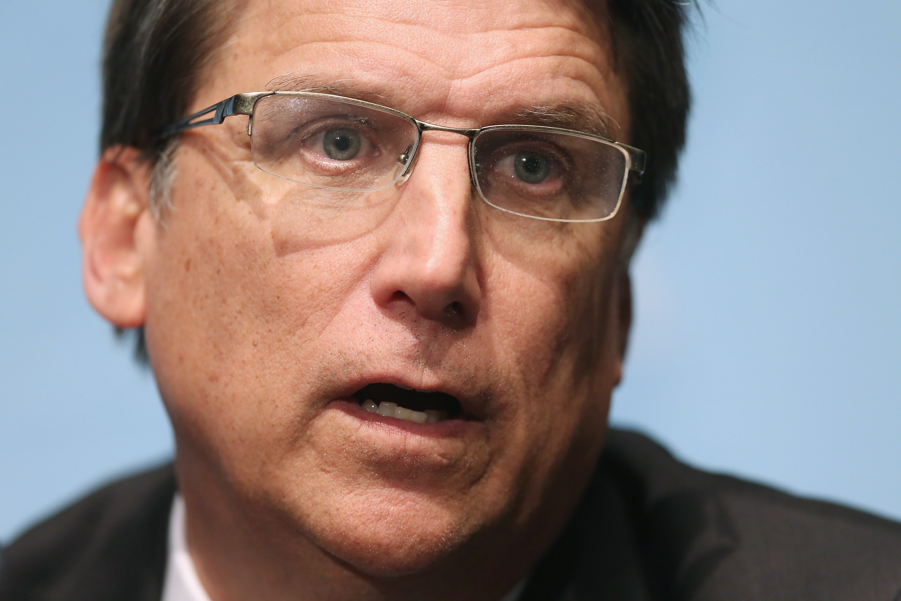 North Carolina Governor Pat McCrory holds a news conference with fellow members of the Republican Governors Association at the U.S. Chamber of Commerce  on Feb. 23, 2015 in Washington, DC.