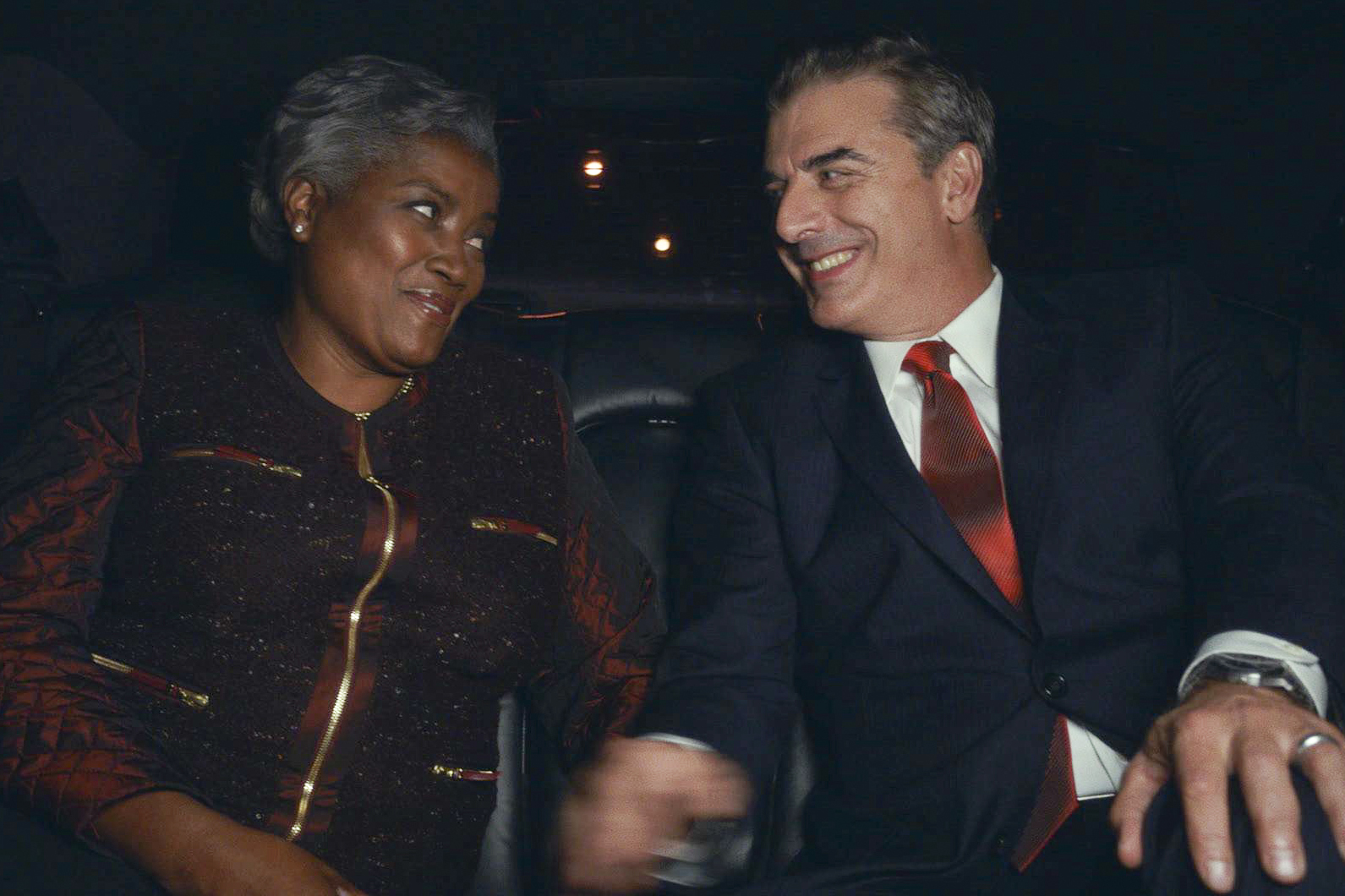 Political Strategist Donna Brazile and Chris Noth on The Good Wife, 2013.
