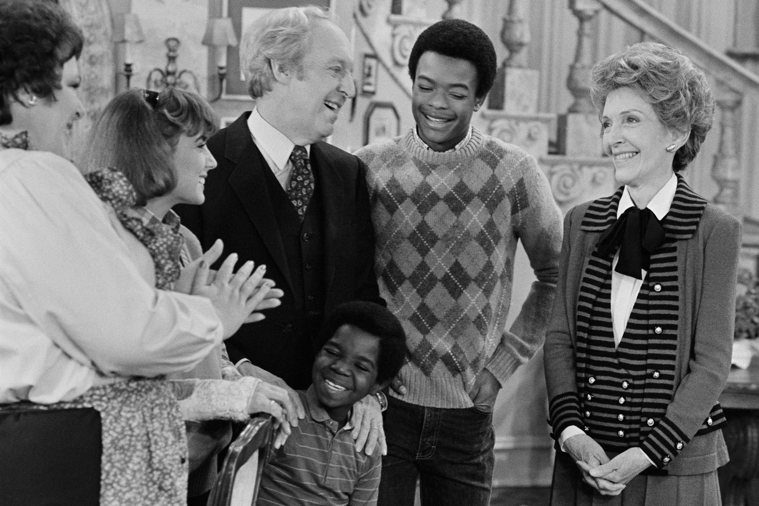 Former first lady Nancy Reagan, right, on Diff'rent Strokes, 1983.