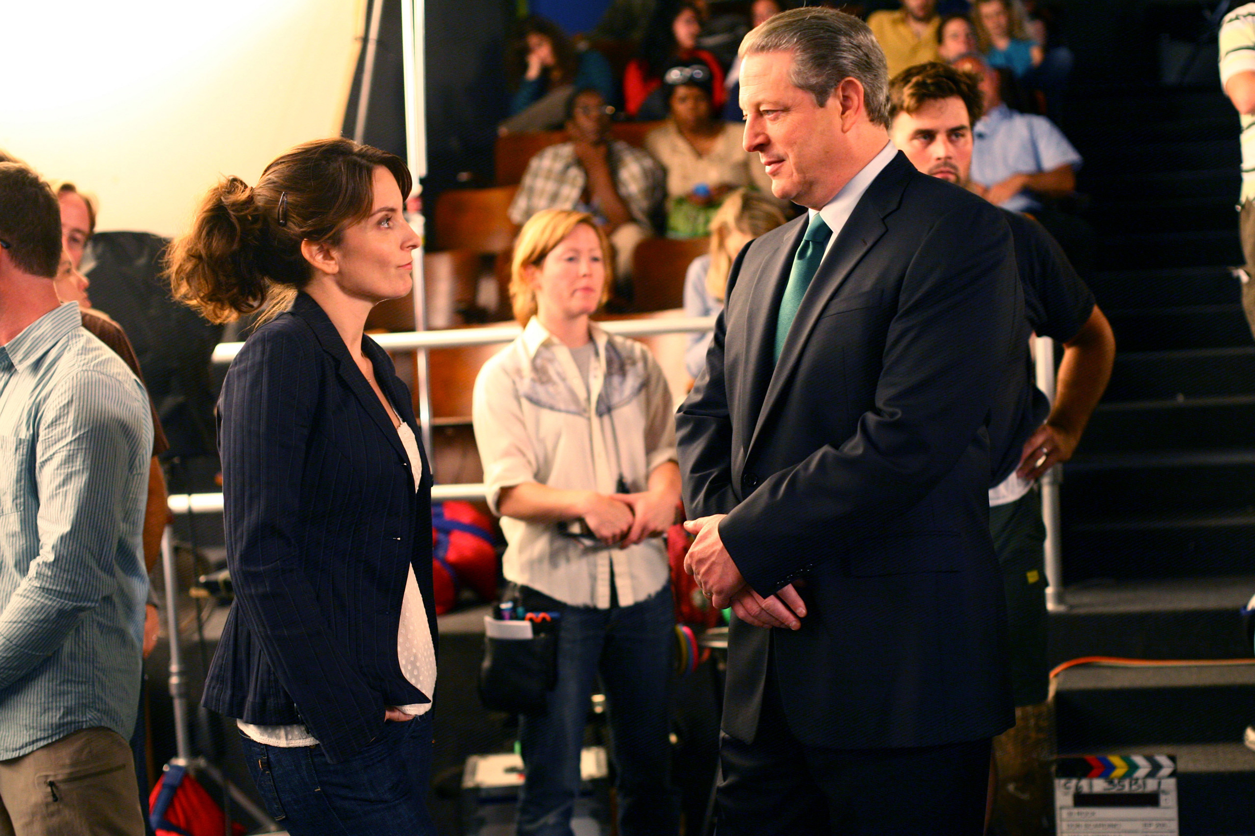 Tina Fey and former Vice President Al Gore on 30 Rock, 2007.