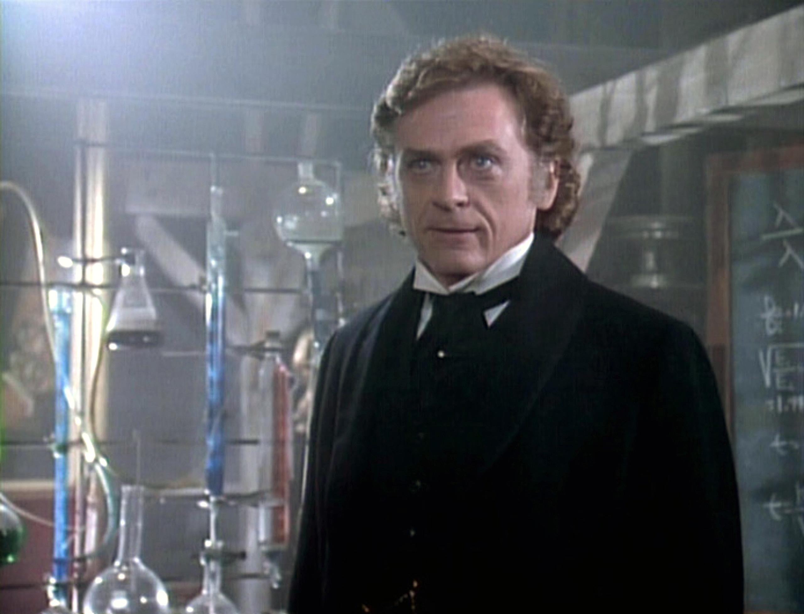 Daniel Davis as Professor James Moriarty in the STAR TREK: THE NEXT GENERATION episode,  Elementary, Dear Data.  Season 2, episode, 3. Original air date, December 5, 1988.