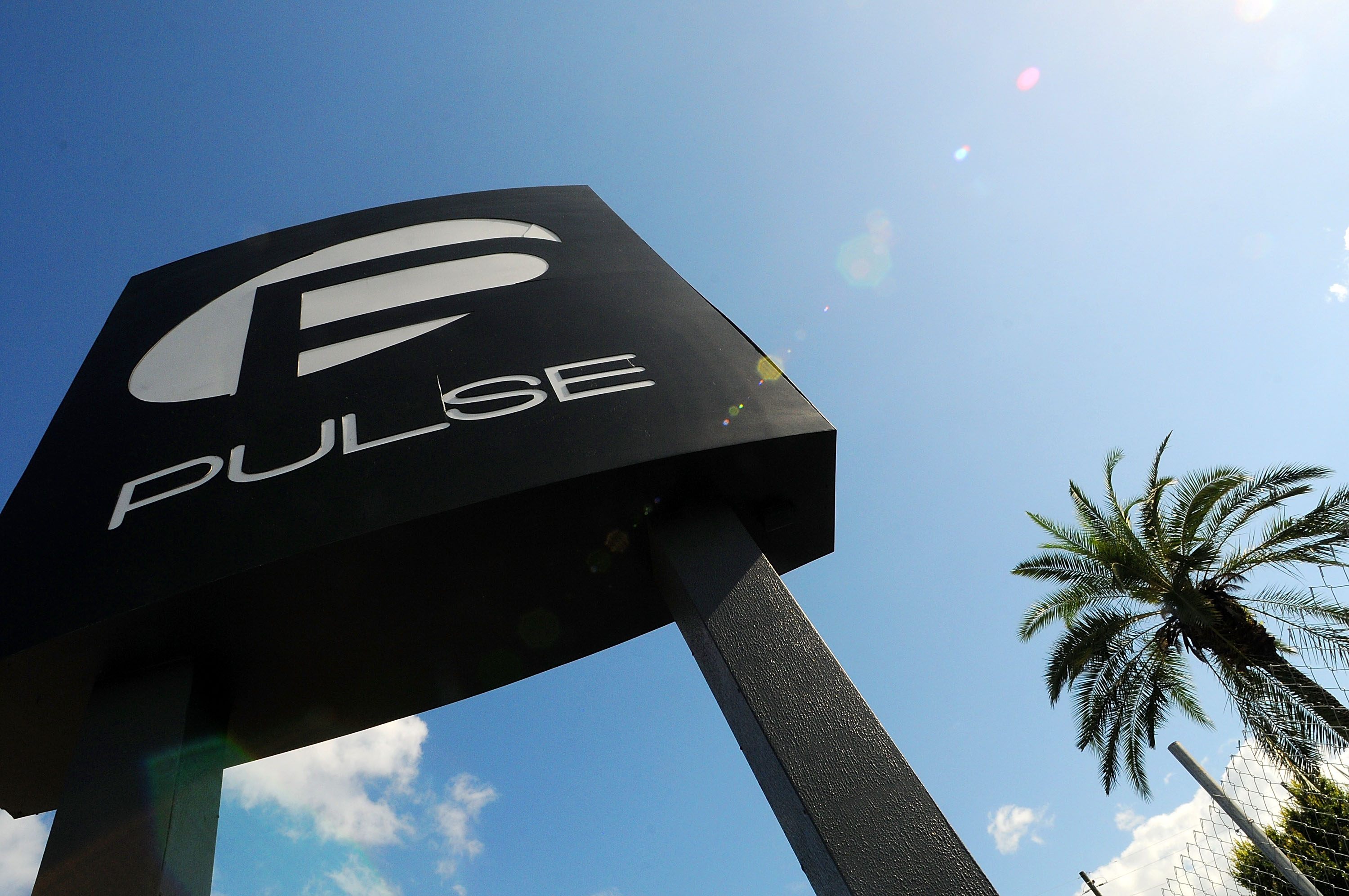 A view of the Pulse Nightclub sign on June 21, 2016 in Orlando, Florida.