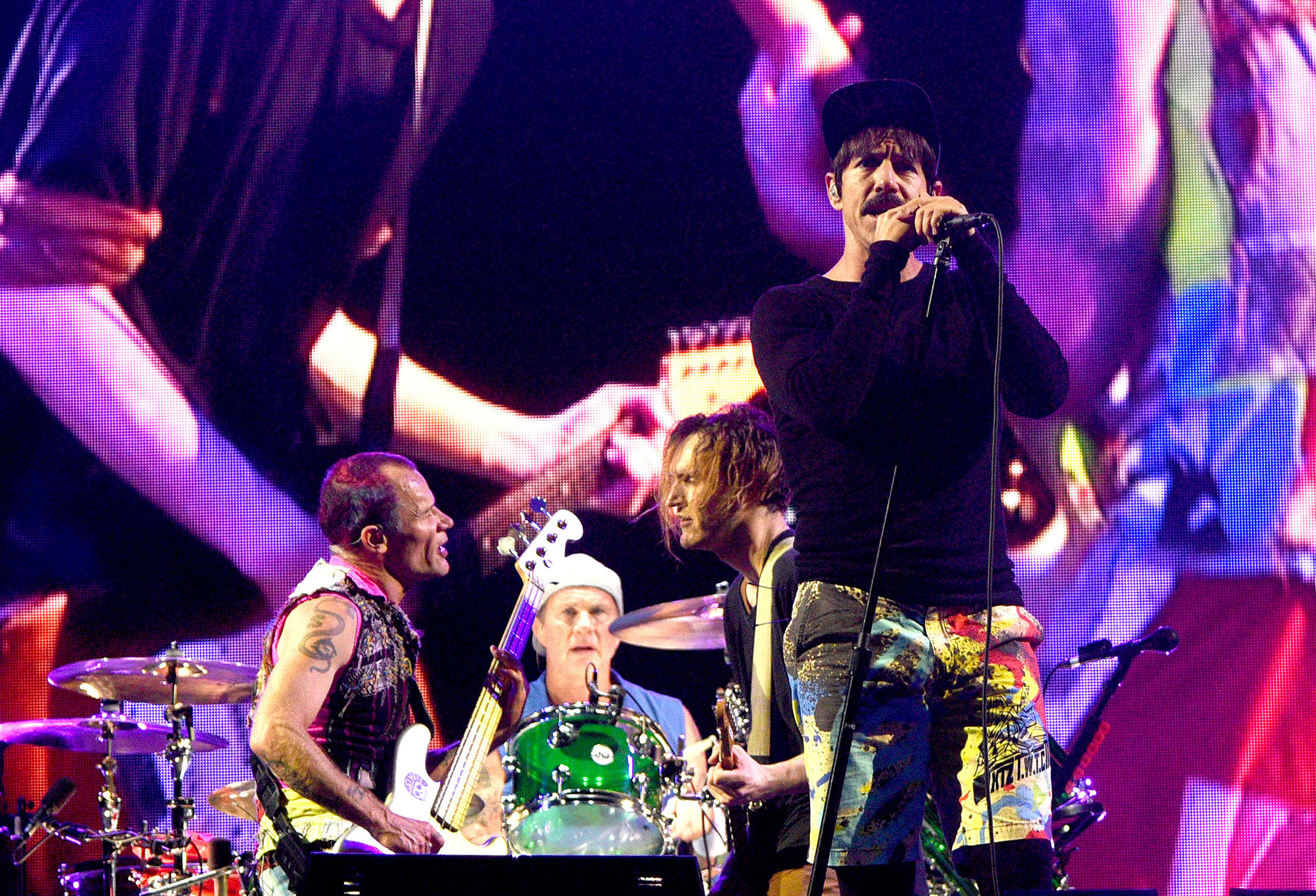 Anthony Kiedis, Flea, Chad Smith and Josh Klinghoffer of the Red Hot Chili Peppers perform during the 2016 Festival D'ete De Quebec on July 16, 2016 in Quebec City, Canada.  (Photo by C Flanigan/WireImage)