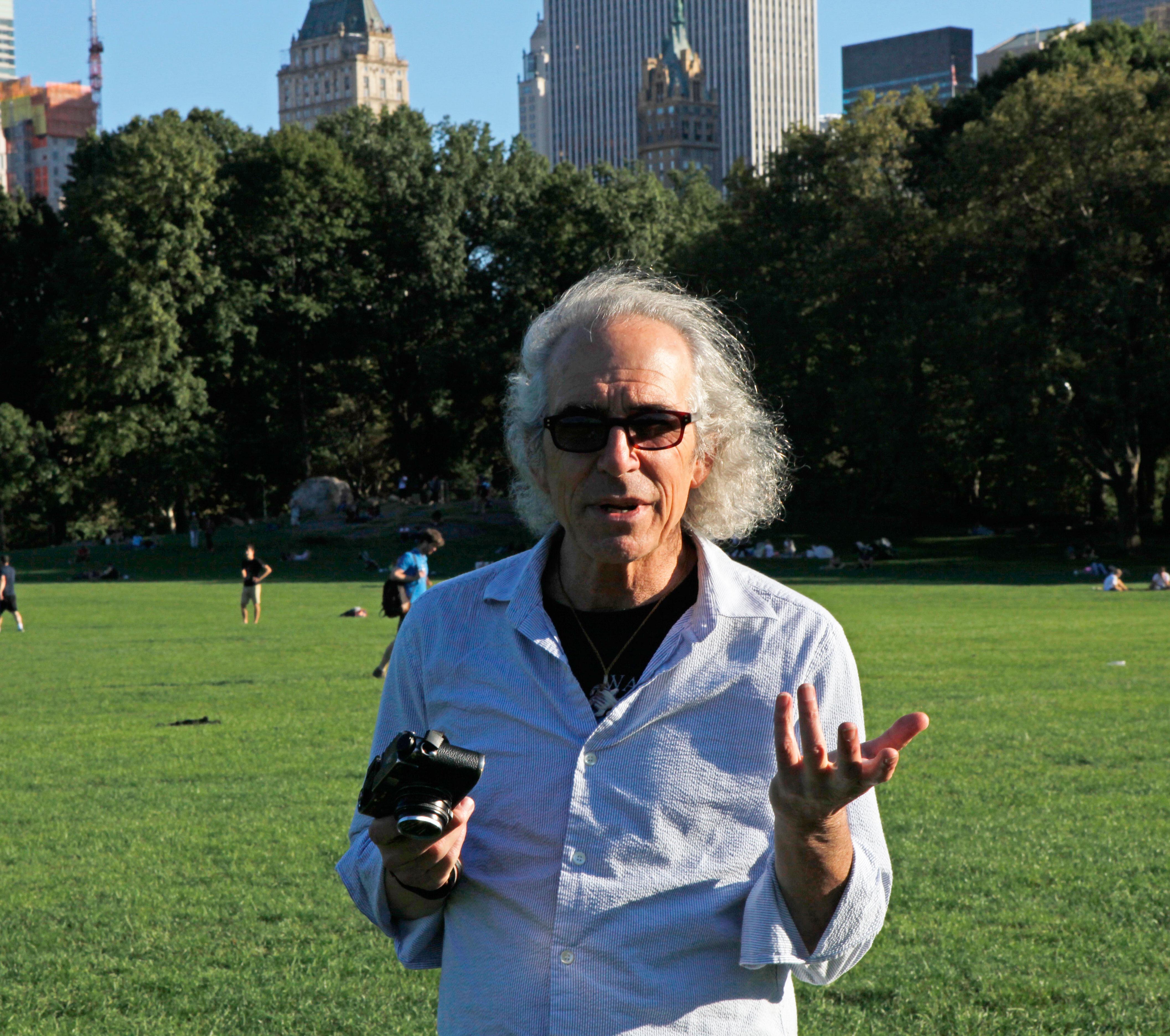 Richard Sandler in Central Park in New York, Sept. 2016.