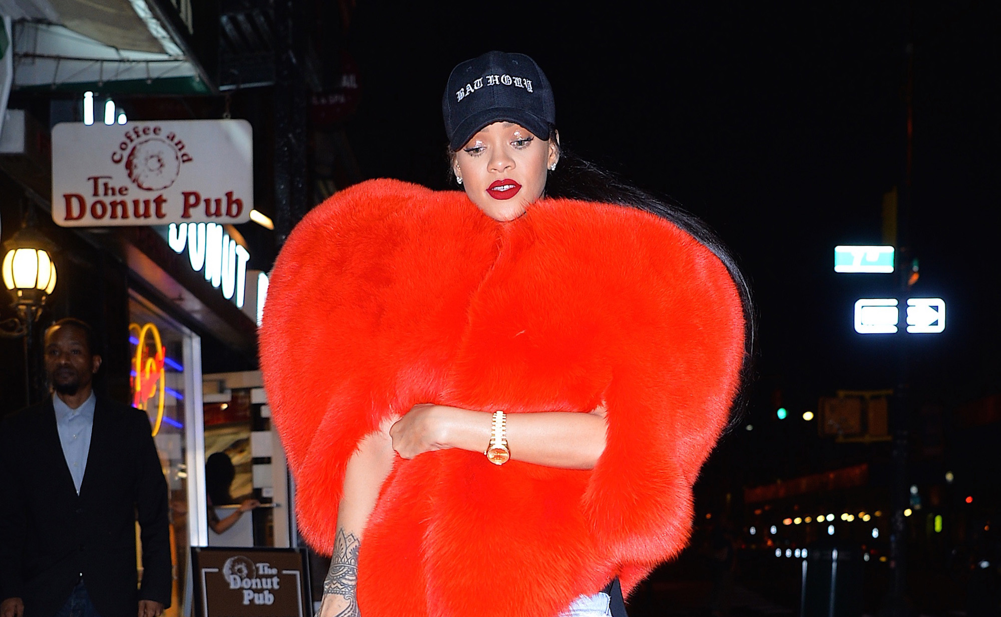 Rihanna seen out in Manhattan in the early ours of the morning on  September 5, 2016 in New York City.  (Photo by Robert Kamau/GC Images)