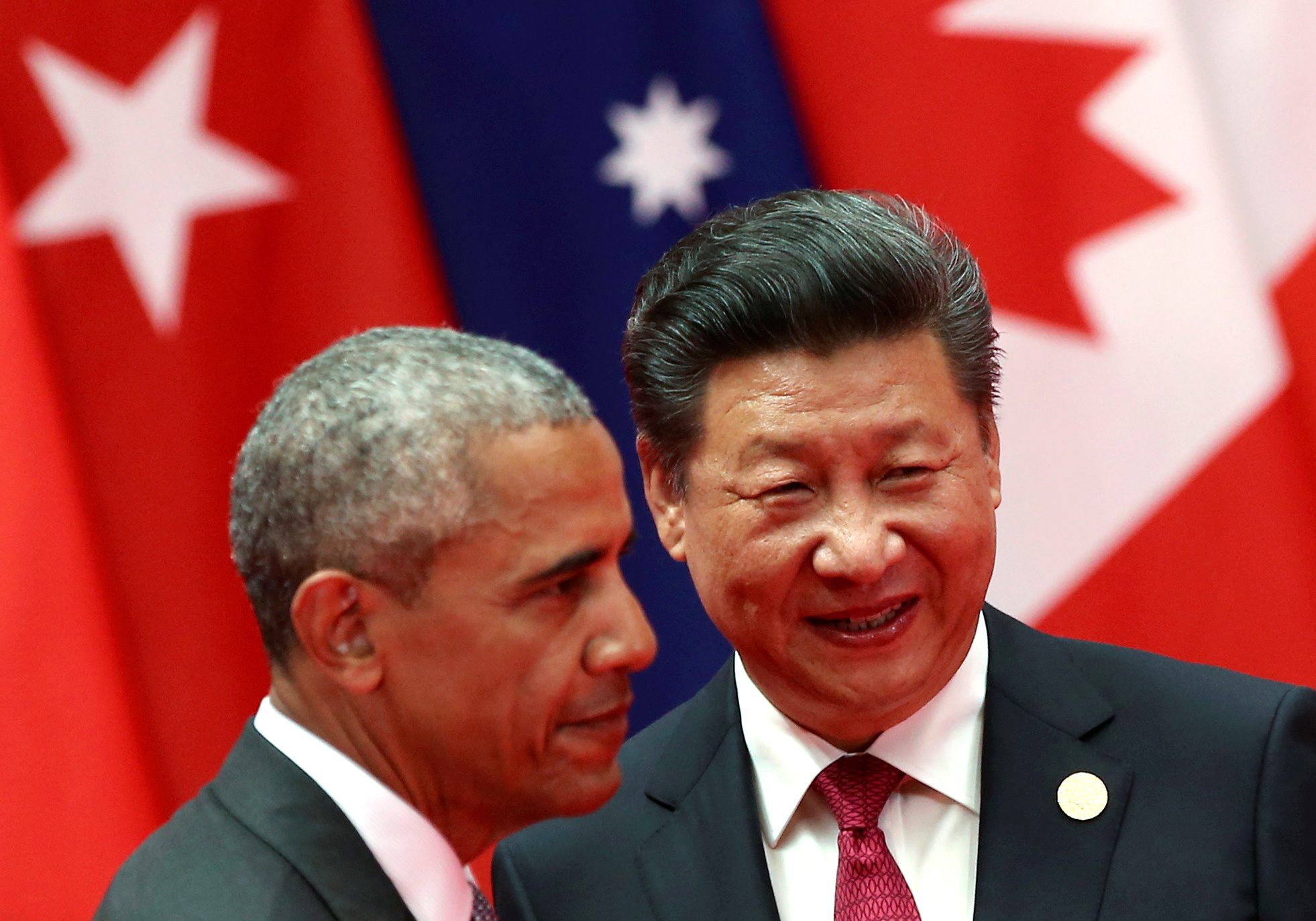 Chinese President Xi Jinping, right, and U.S. President Barack Obama attend the G-20 summit in Hangzhou, China, on Sept. 4, 2016
