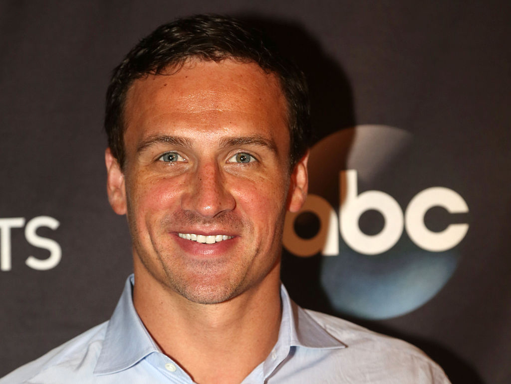 NEW YORK, NY - SEPTEMBER 07:  Ryan Lochte poses as Season 23 of  Dancing With The Stars  meets the press at Planet Hollywood Times Square on September 7, 2016 in New York City.