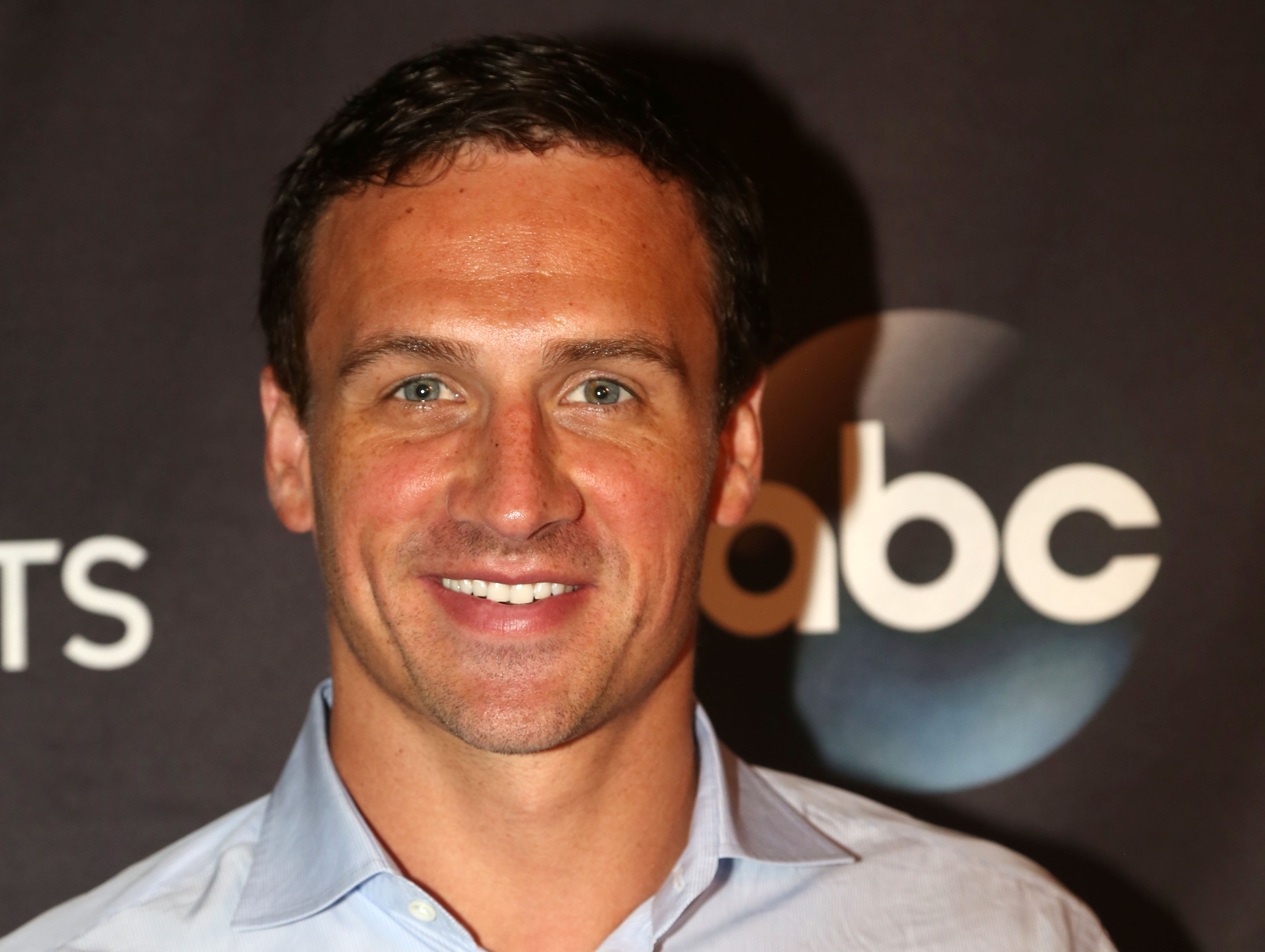Ryan Lochte poses as Season 23 of  Dancing With The Stars  meets the press at Planet Hollywood Times Square on September 7, 2016 in New York City.