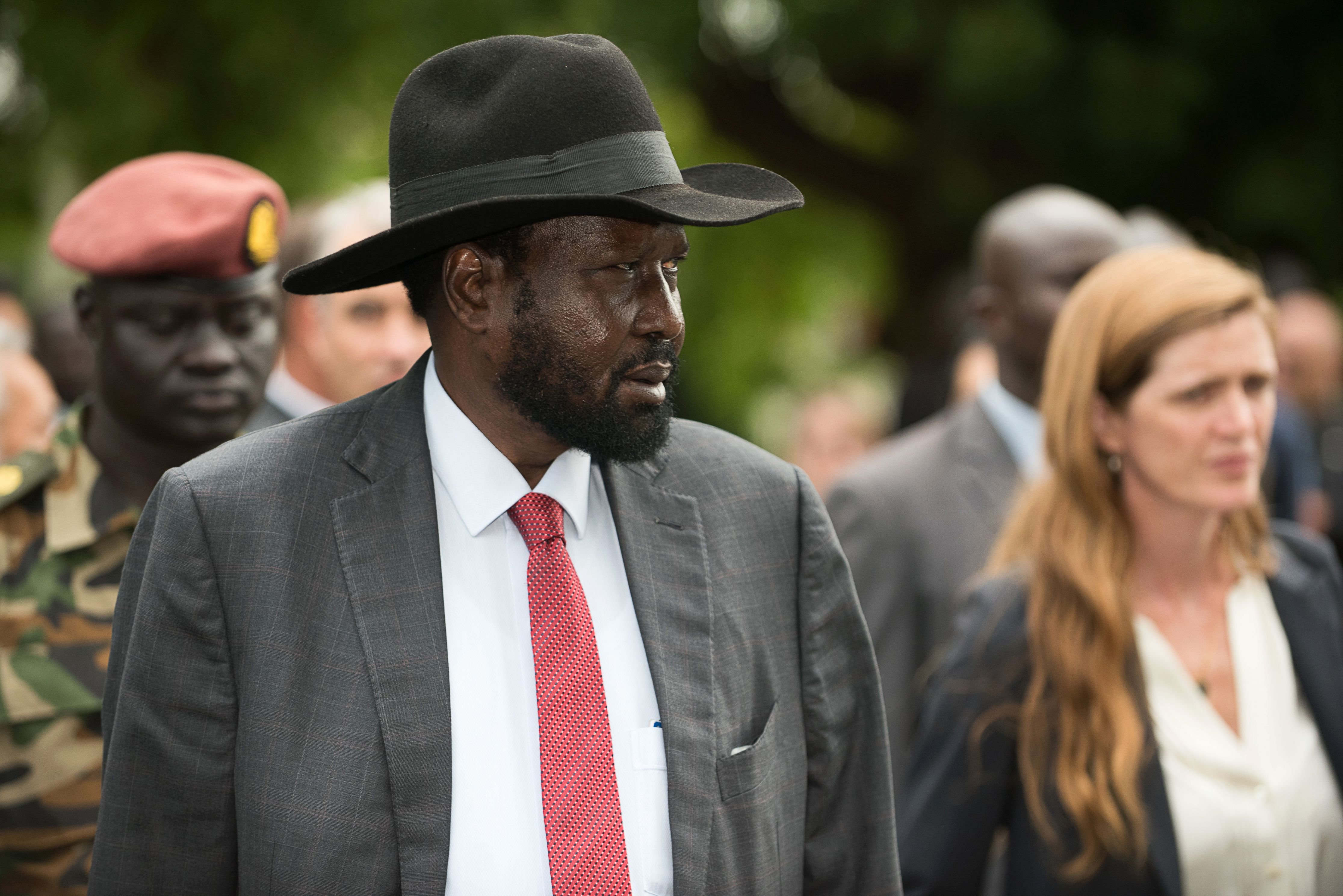 South Sudan's President Salva Kiir during a tour of South Sudan's state house, Sept. 4, 2016.