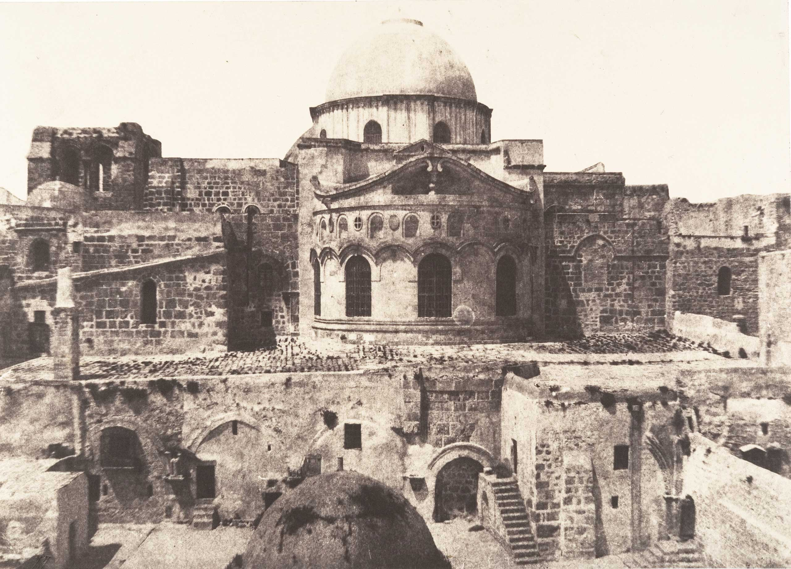 Faith and Photography: Auguste Salzmann in the Holy Land, The Met, N.Y.: Sept. 12 - Feb. 5, 2017                                                                                             (Caption: Jerusalem, Church of the Holy Sepulchre, Apse, 1854)