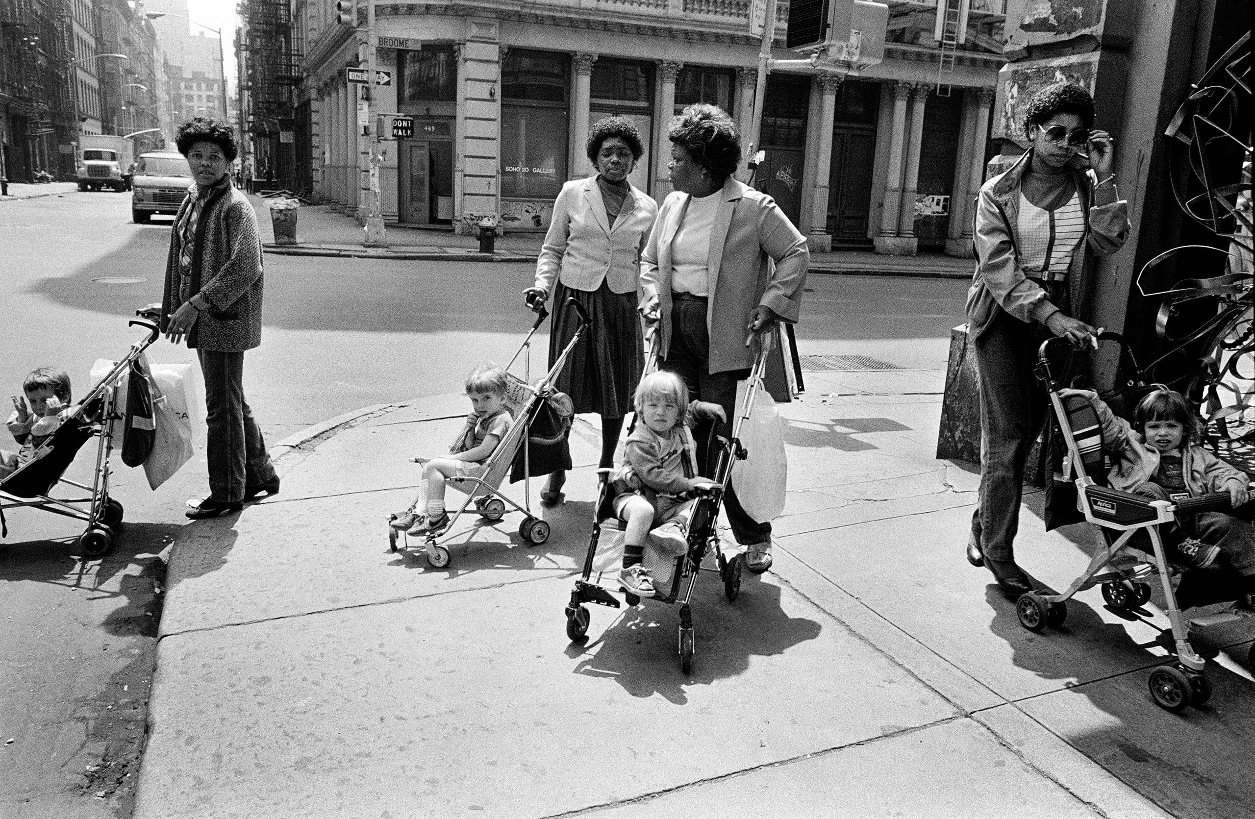 Black Nannies/ White Tykes, SoHo, NYC, 1982