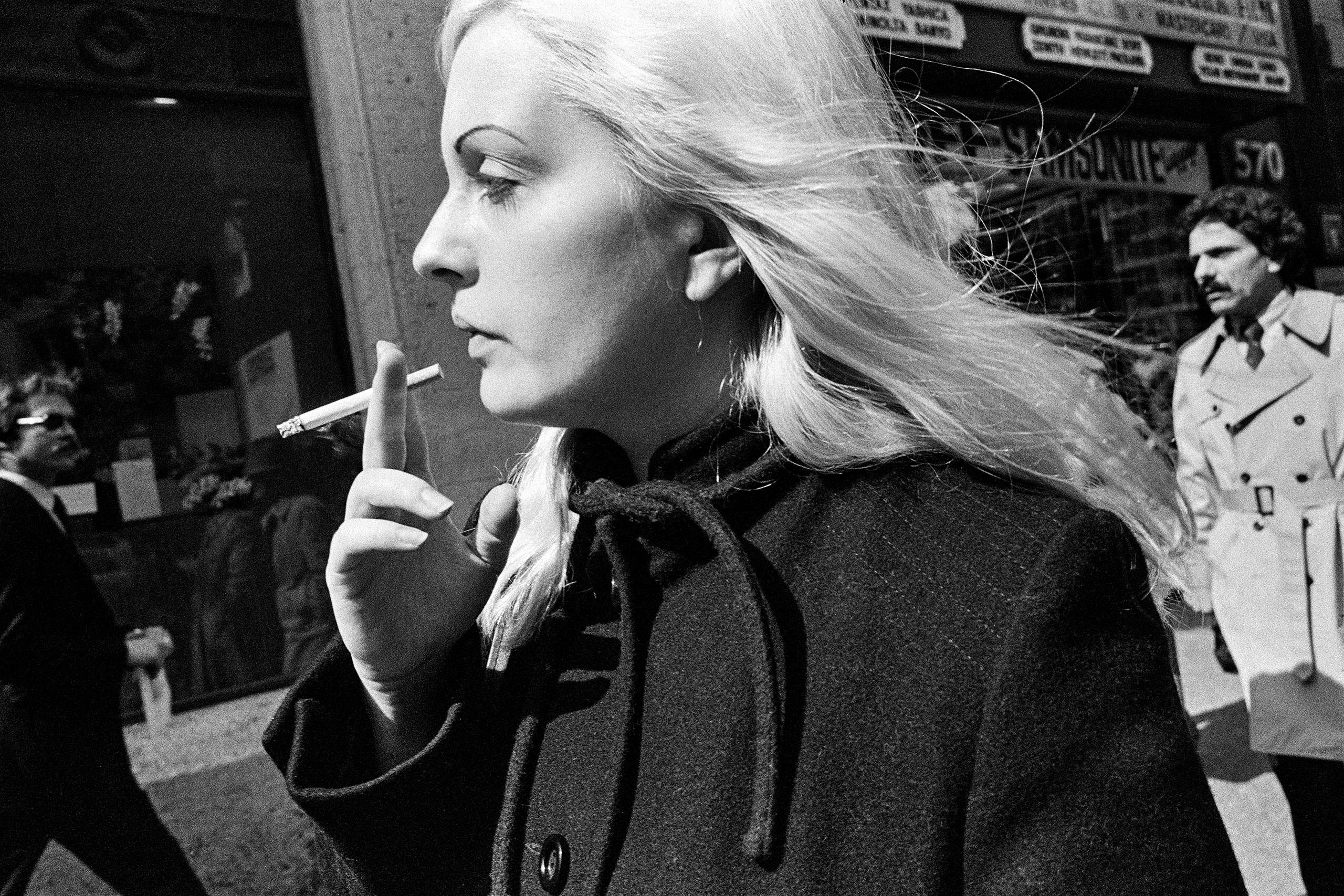 Woman, Angled Cig, 5th Ave., NYC, 1981