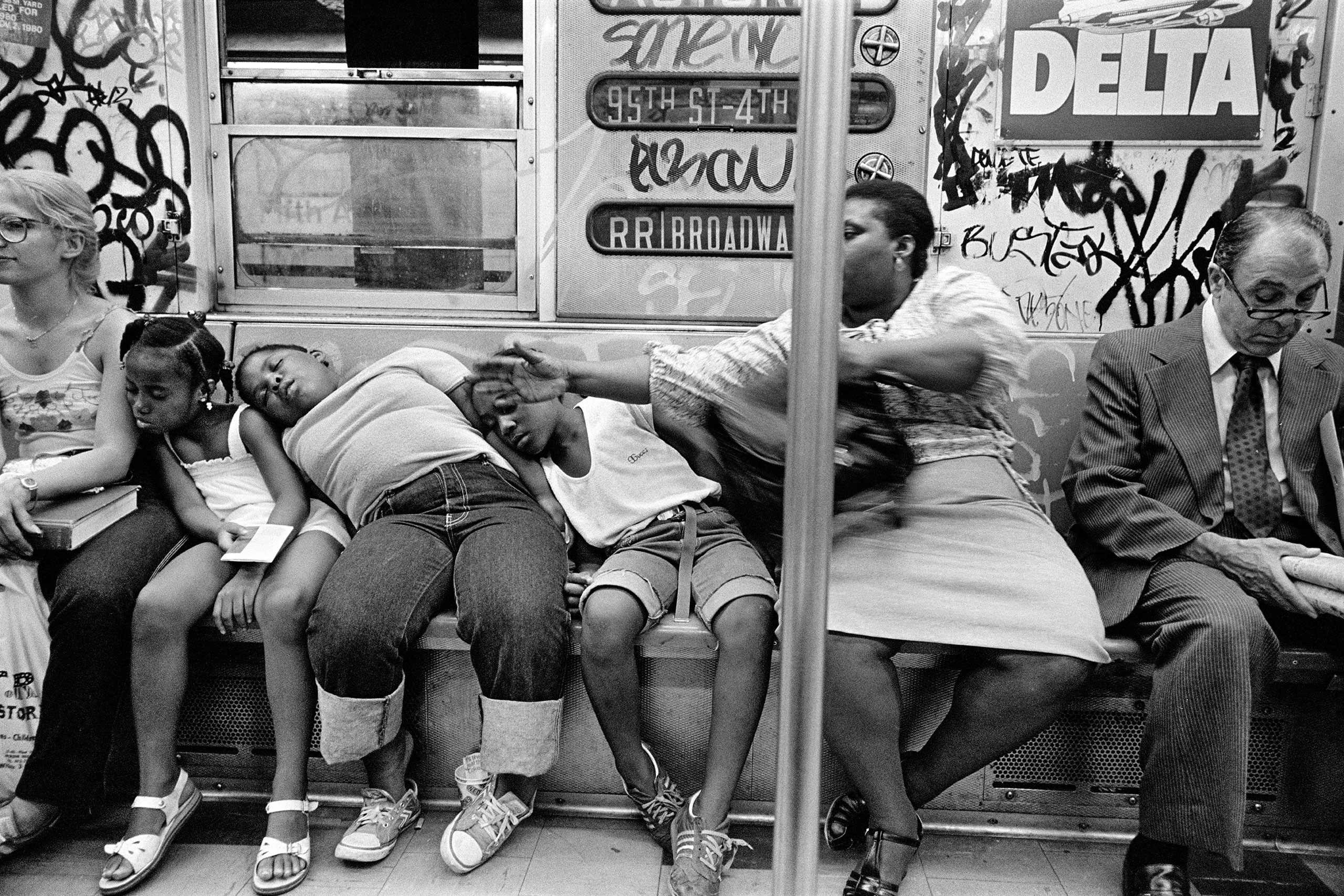 RR Train, NYC, 1982