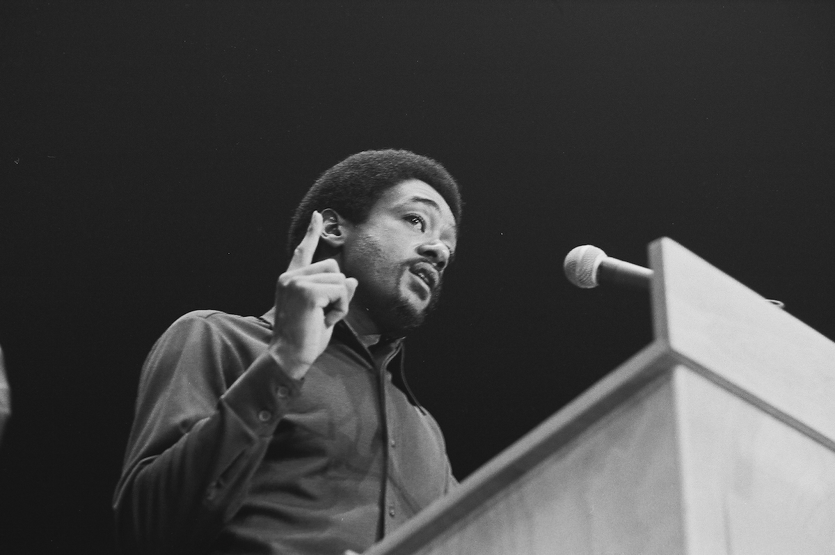 Bobby Seale speaks in Ann Arbor, Mich., Dec. 10, 1971.