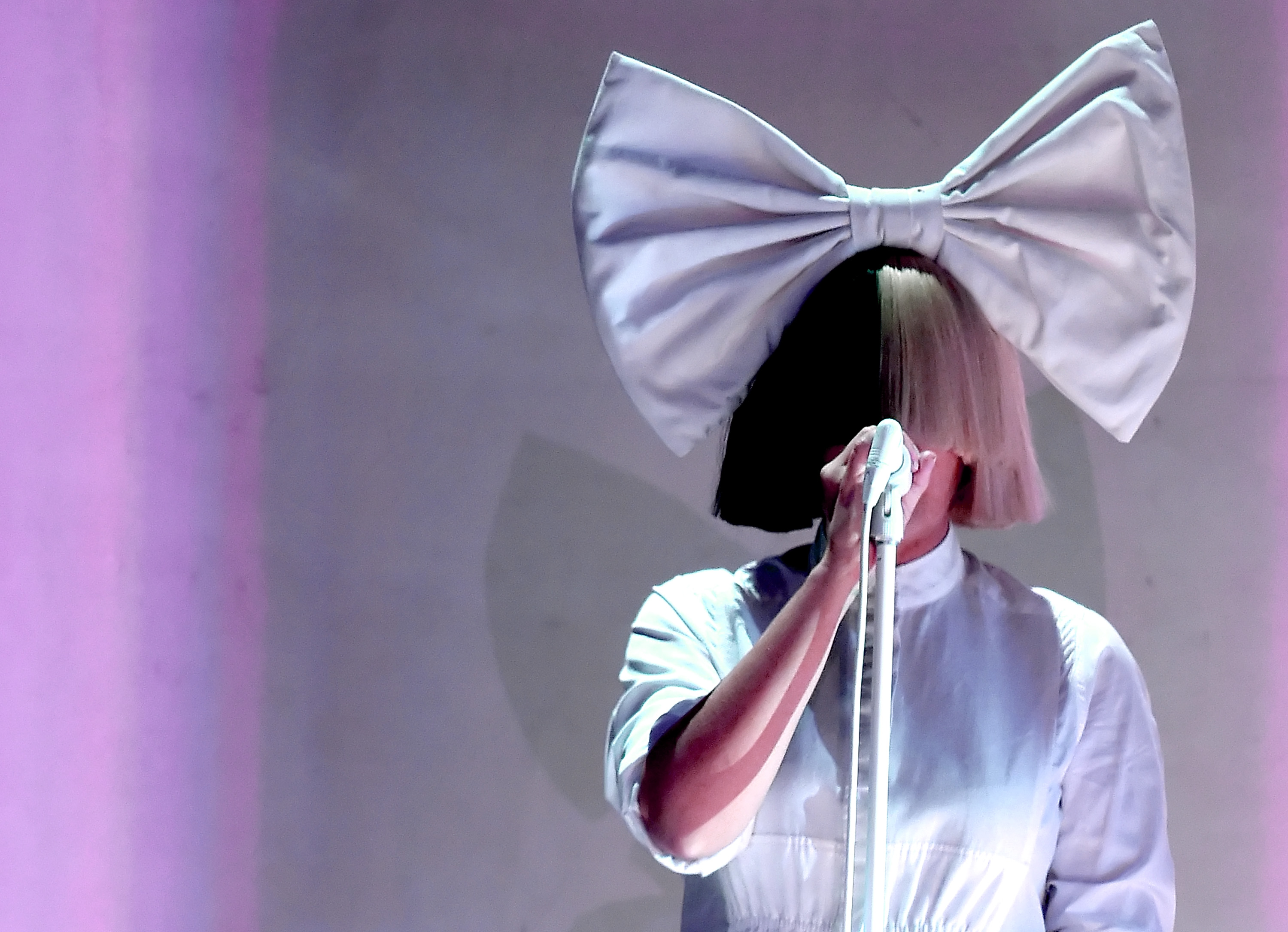 Recording artist Sia performs onstage at the 2016 iHeartRadio Music Festival at T-Mobile Arena on September 23, 2016 in Las Vegas, Nevada.