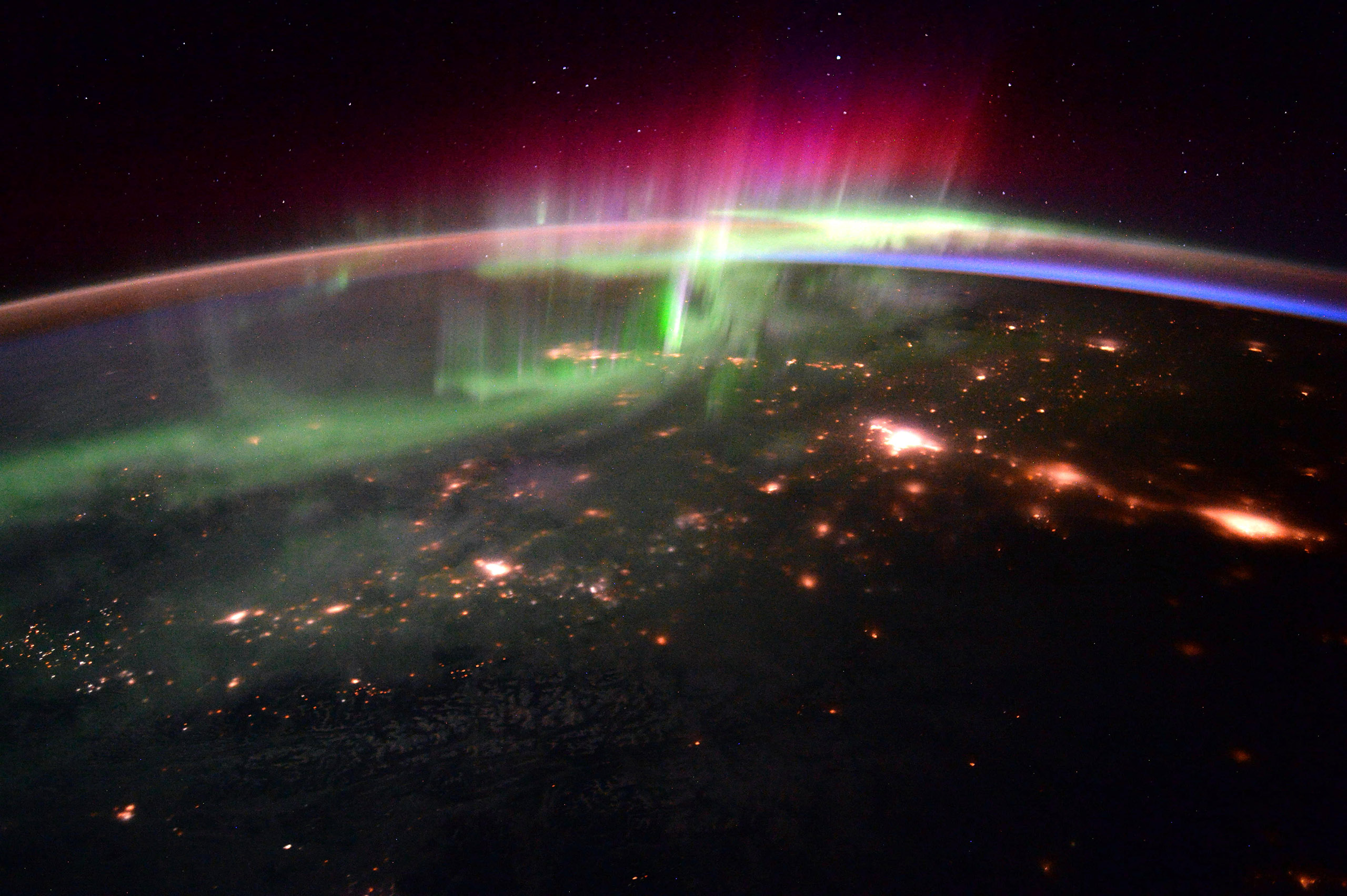 An aurora over northern Canada, Jan. 20, 2016.