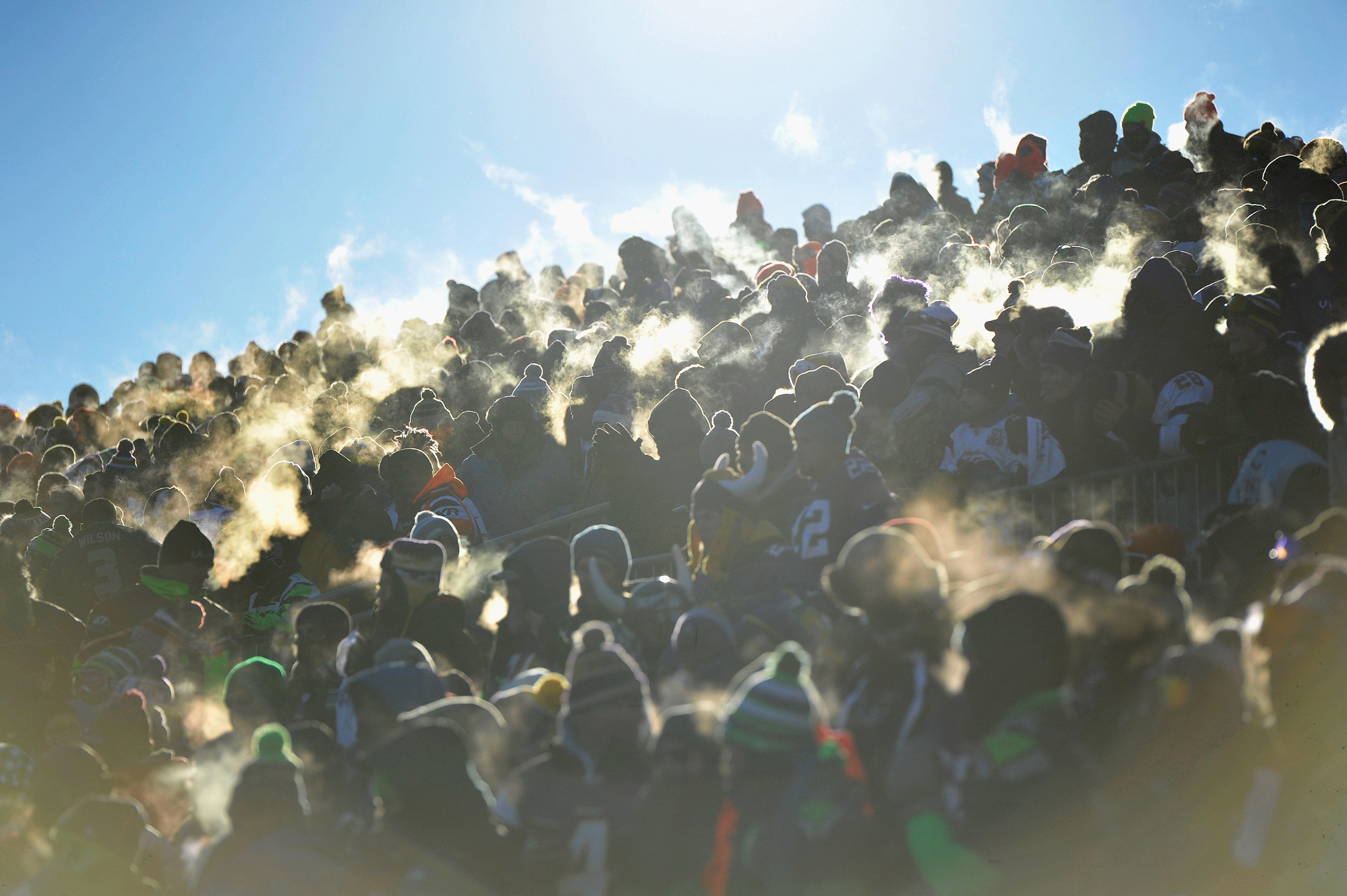 Fans during the NFC Wild Card Playoff game between the Minnesota Vikings and the Seattle Seahawks at TCFBank Stadium in Minneapolis, Minnesota, on Jan. 10, 2016.