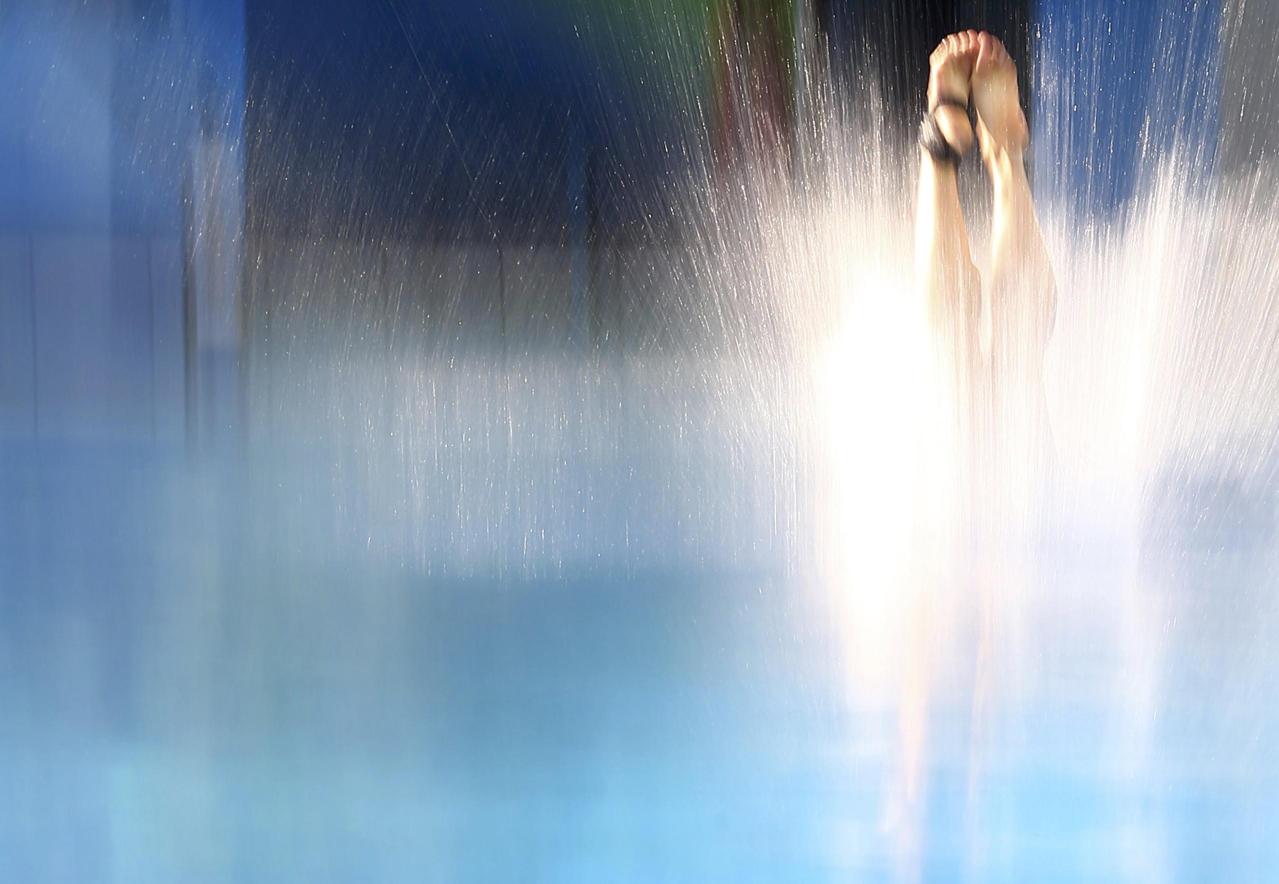 Pandelela Rinong Pamg of Malaysia competes in the Women's 10m Platform Preliminary at the Maria Lenk Aquatics Centre in Rio de Janeiro, Brazil, Aug. 17, 2016.