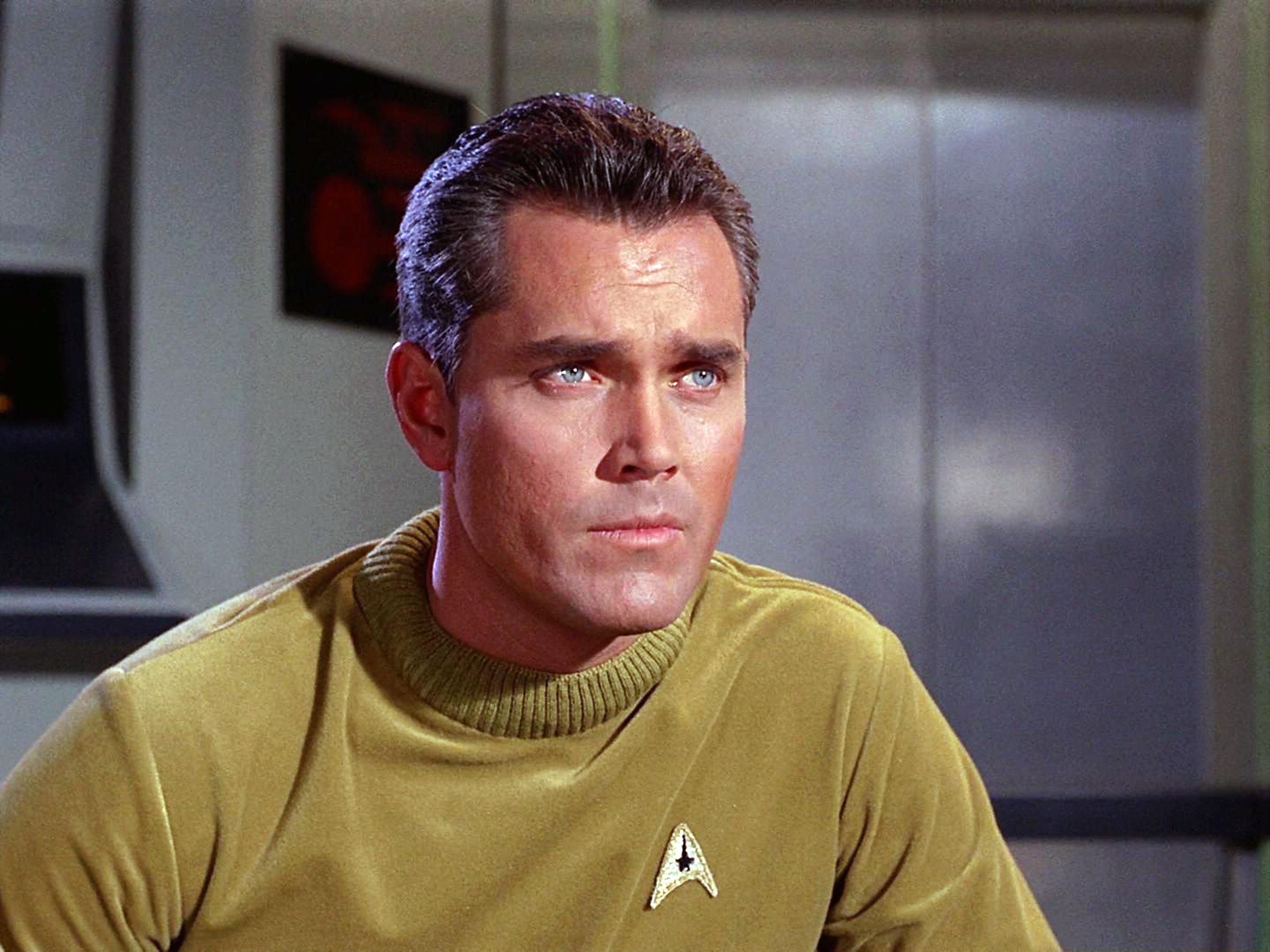 Jeffrey Hunter as Captain Christopher Pike.