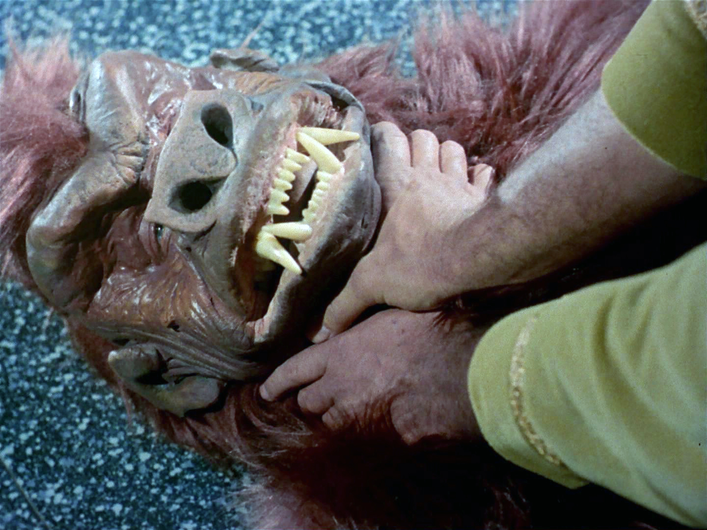 Janos Prohaska as the Anthropoid Ape.