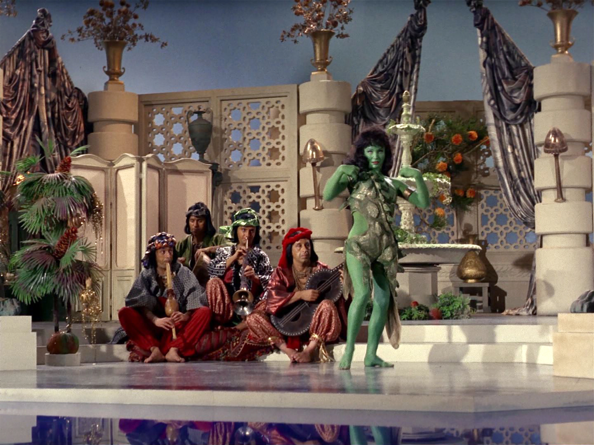 Susan Oliver as Vina appearing as an Orion slave girl.