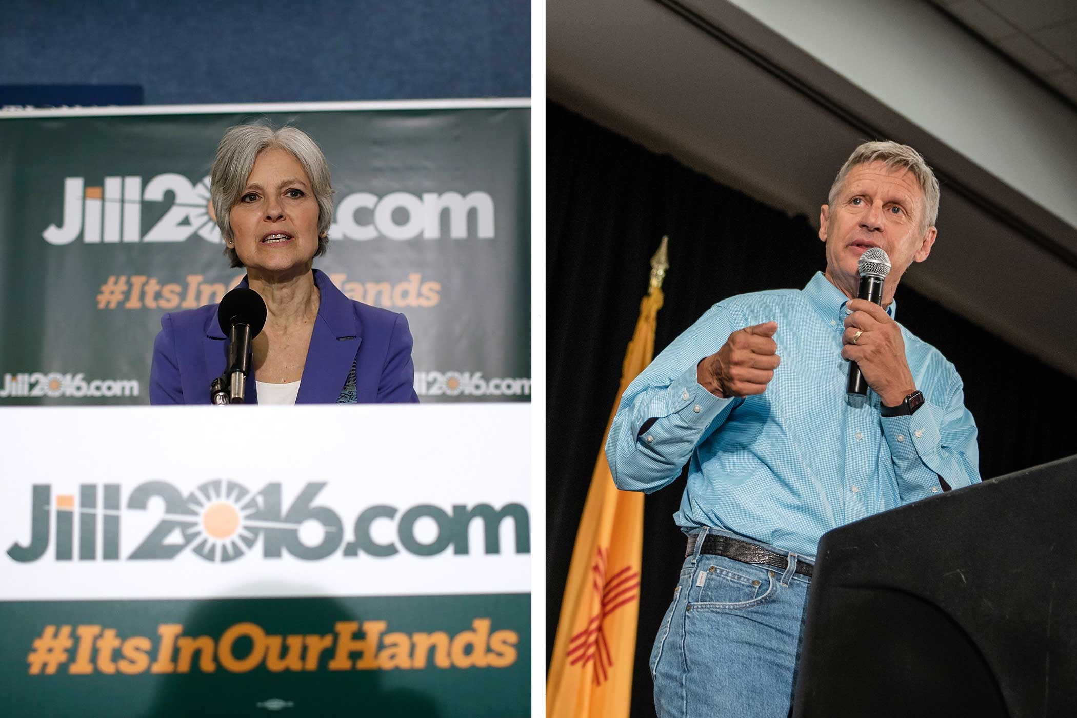 Green Party candidate Jill Stein and Libertarian Party candidate Gary Johnson