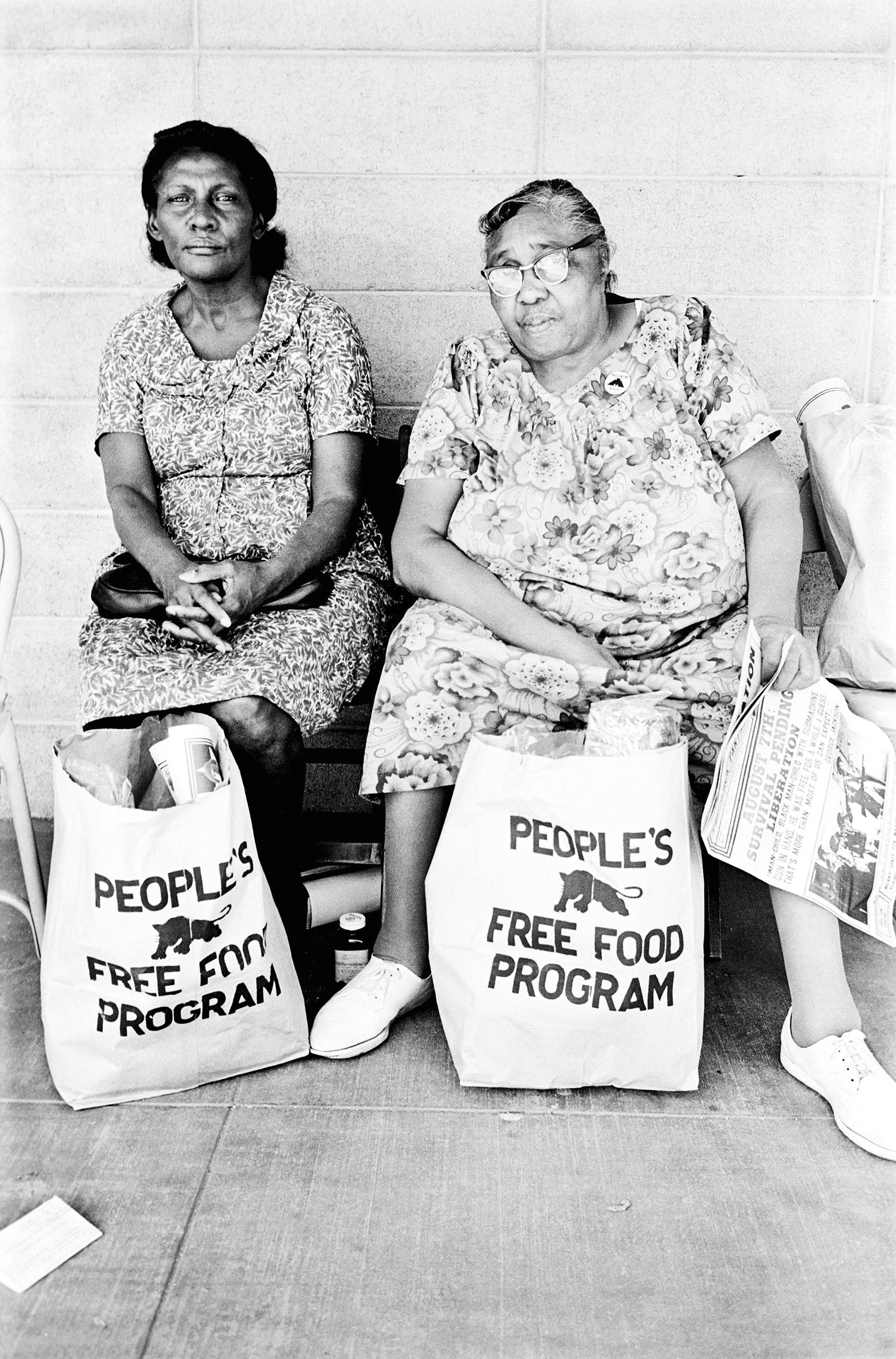 People's Free Food Program, Palo Alto, 1972.