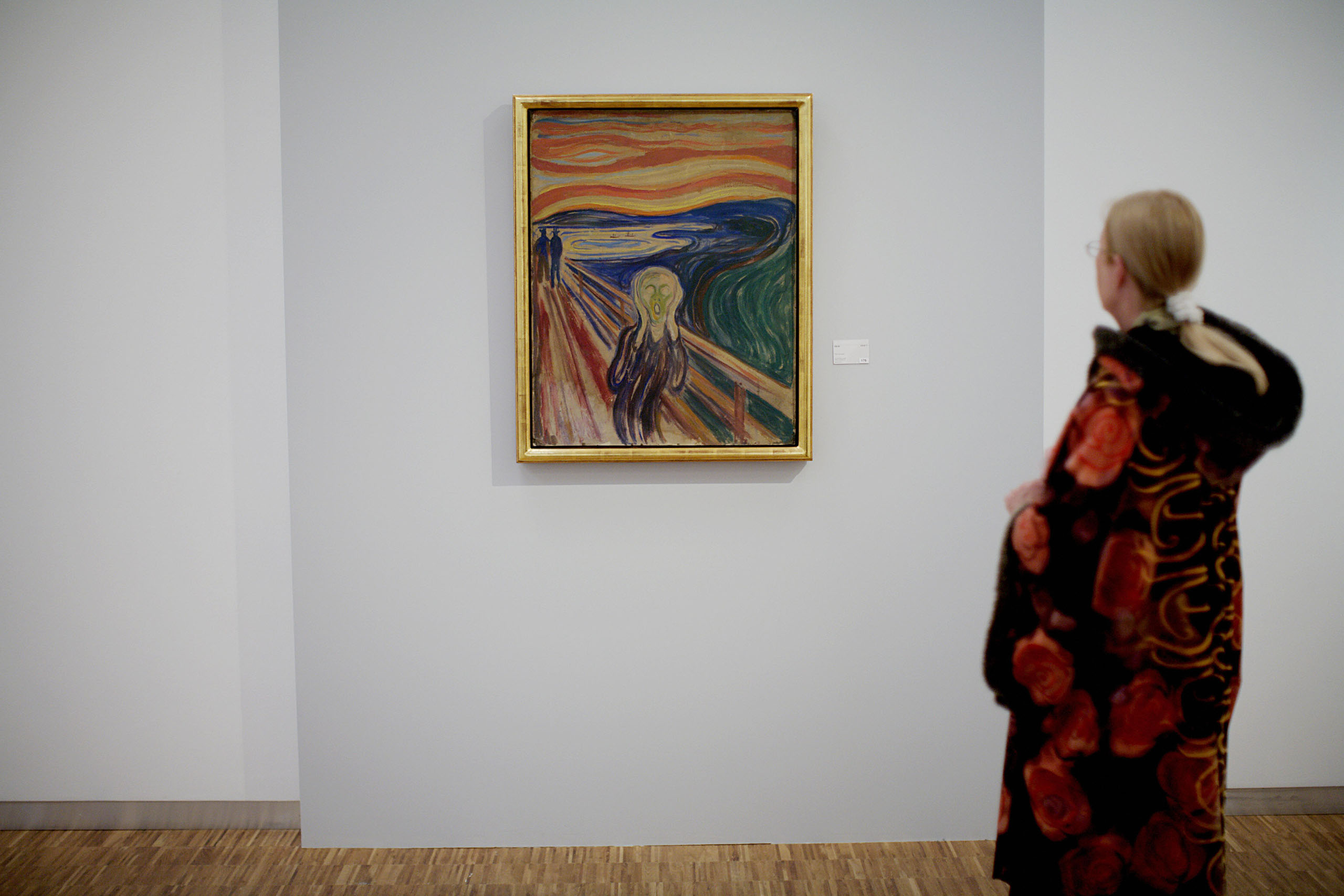 The Scream  by expressionist painter Edvard Munch is on display for the public on May 23, 2008 at the Munch Museum in Oslo after it was restored and conserved following its spectacular theft from the museum in Aug. 2004.