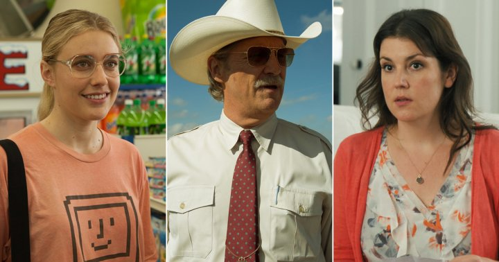 From left: Greta Gerwig in Wiener-Dog, Jeff Bridges in Hell or High Water, and Melanie Lynskey in The Intervention.