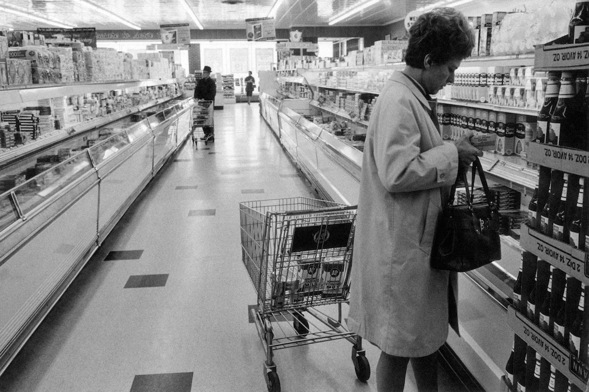 A supermarket in the 1960s in New Jersey