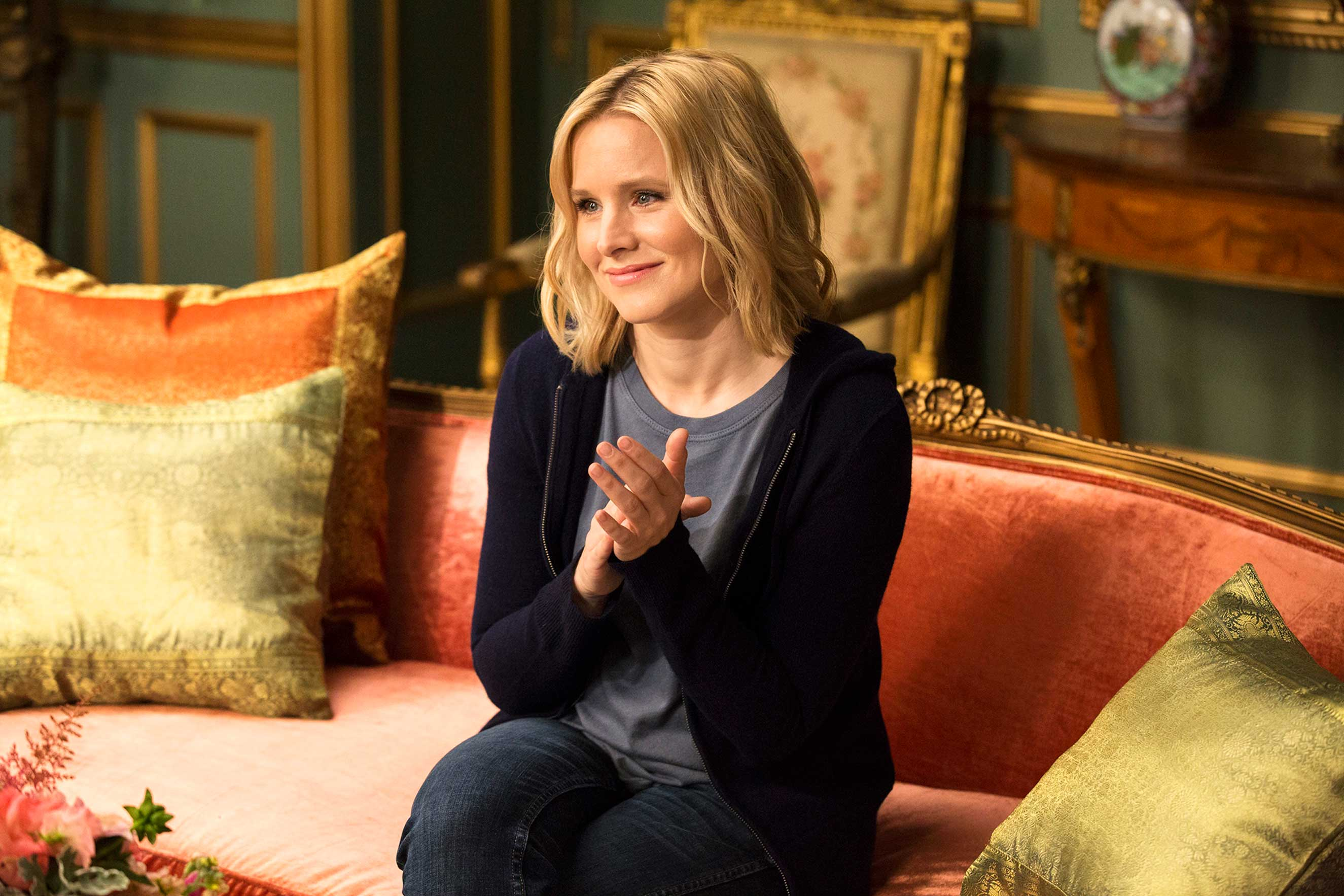 Kristen Bell as Eleanor in The Good Place