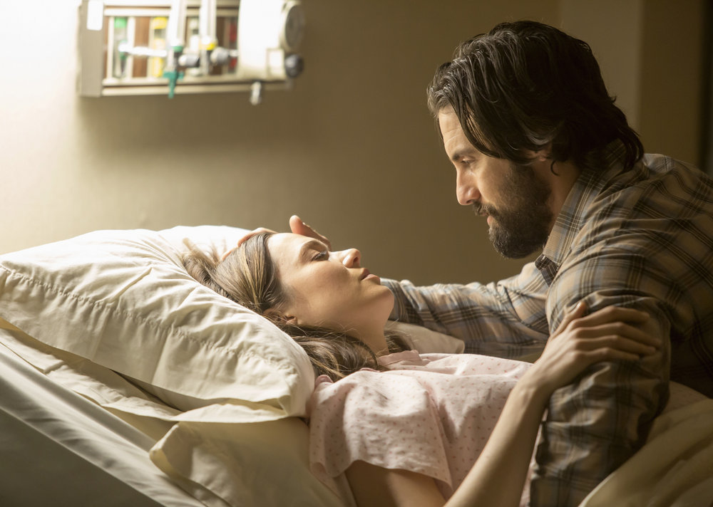 Mandy Moore and Milo Ventimiglia in This Is Us.