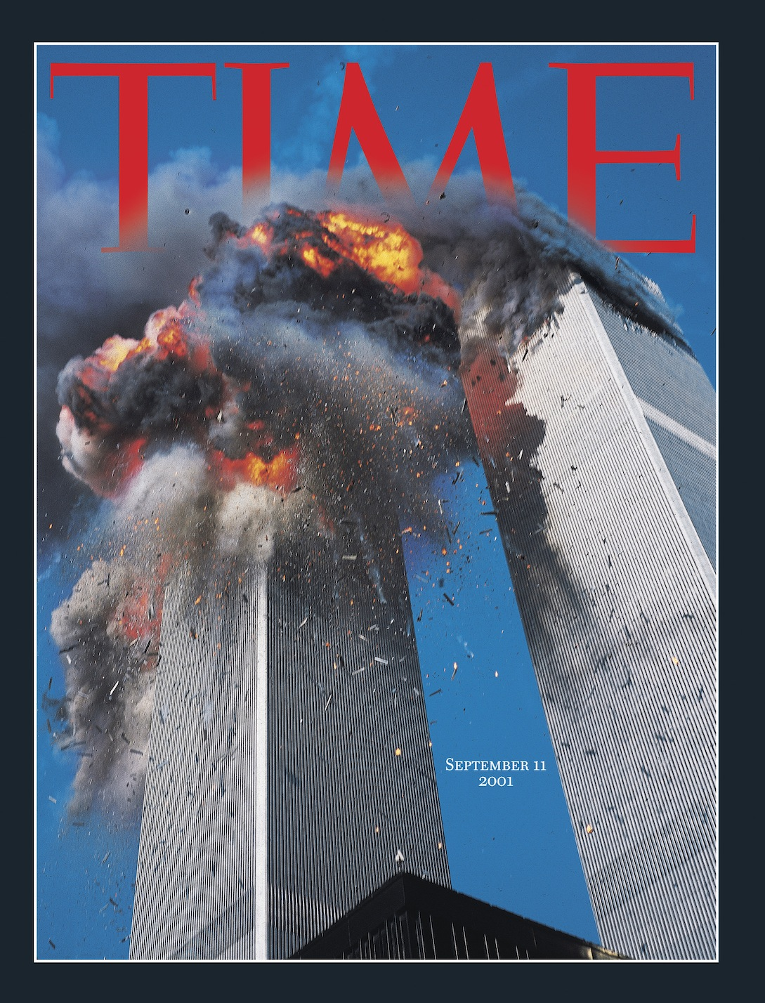TIME's original 9/11 cover photographed by Lyle Owerko, on September 11, 2001