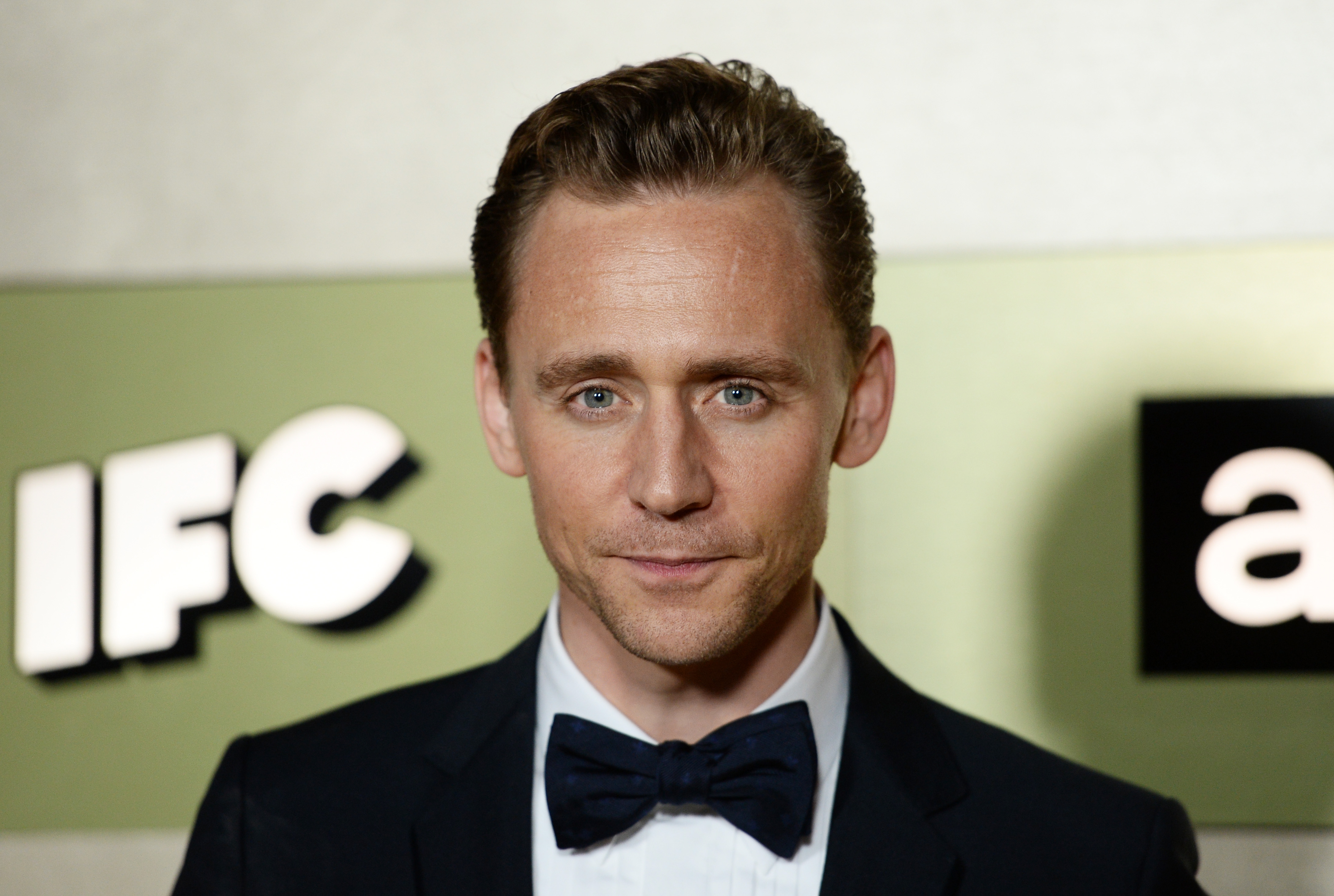 Actor Tom Hiddleston arrives at the AMC Networks' 68th Primetime Emmy Awards After-Party Celebration at BOA Steakhouse in West Hollywood, California.