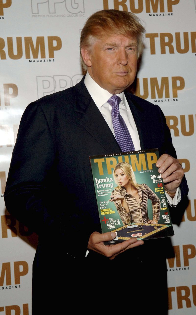 NEW YORK - SEPTEMBER 20: Donald Trump poses at the Trump Magazine celebration on September 20, 2006 in New York City. (Photo by Gustavo Caballero/Getty Images)
