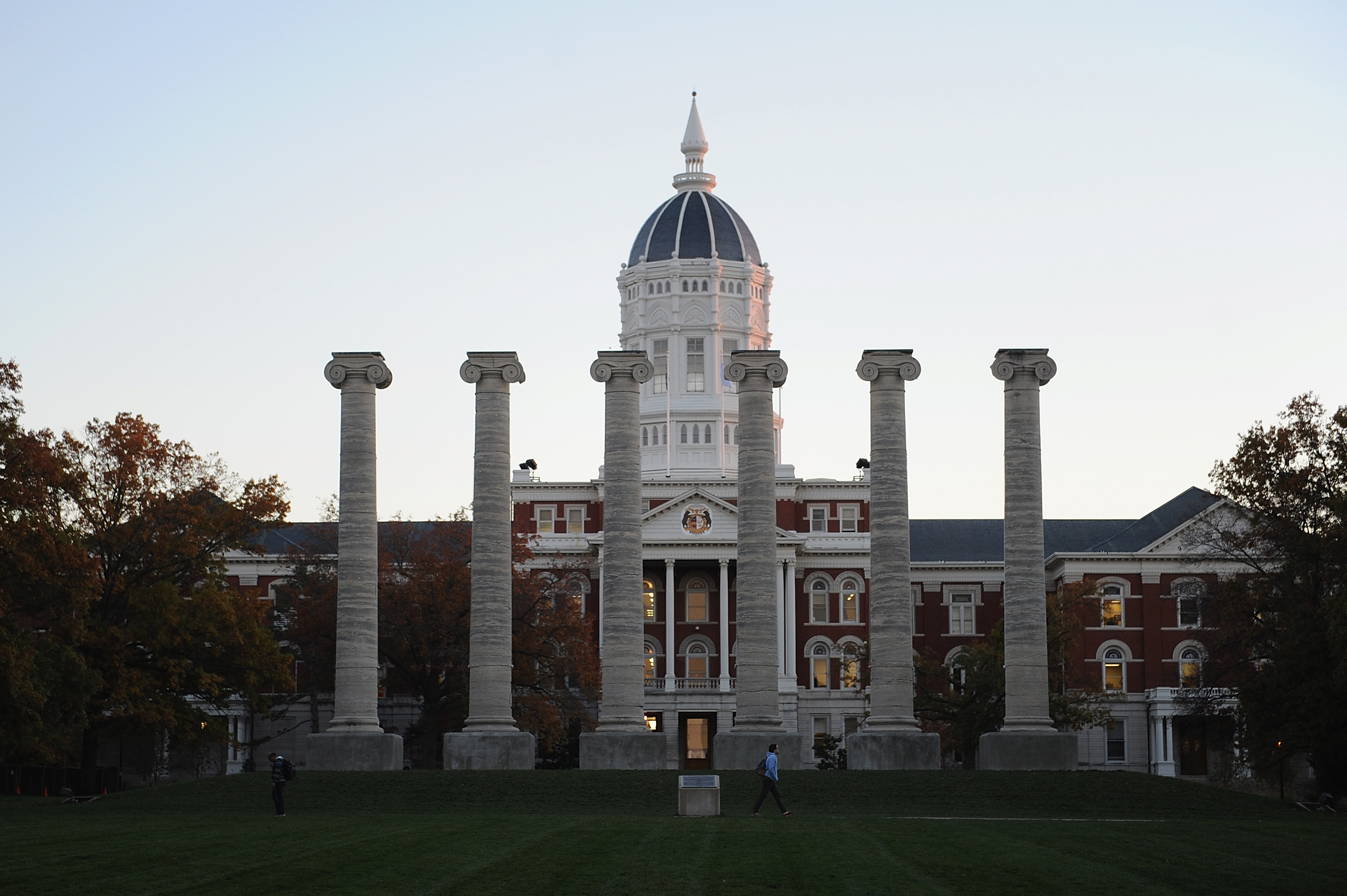Academic Hall on the campus of University of Missouri, the author's alma mater.