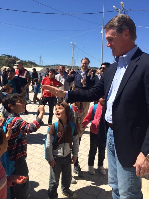 Sen. David Perdue at the Nizip Camp near Gaziantep, Turkey, in 2016.