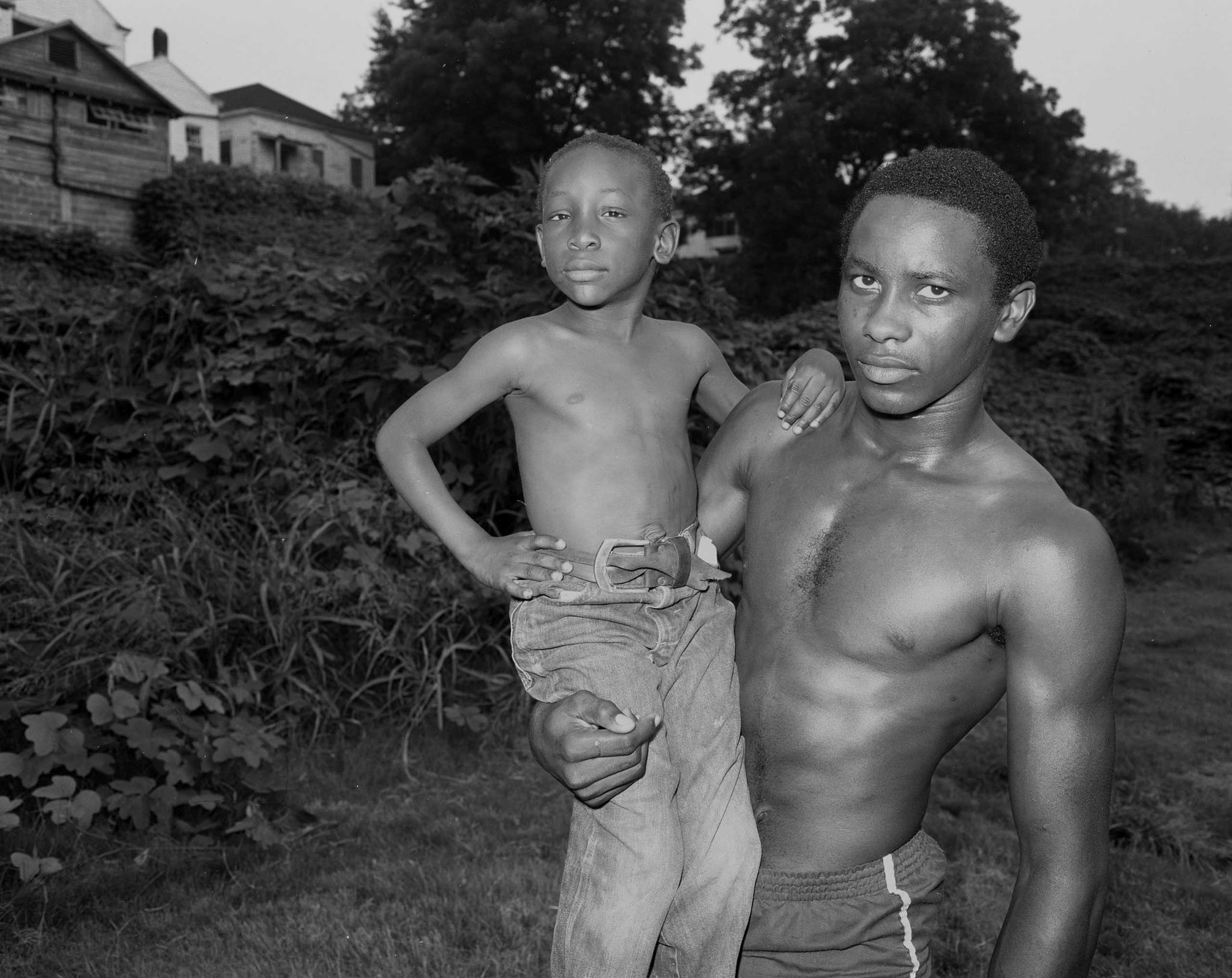 Land Inhabited and Works of Baldwin Lee, The Museum of Contemporary Art of Georgia, Ga.: Sept. 23 - Nov. 19                                                              (Caption: Alan and Friend, Vicksburg, MS, 1983)
