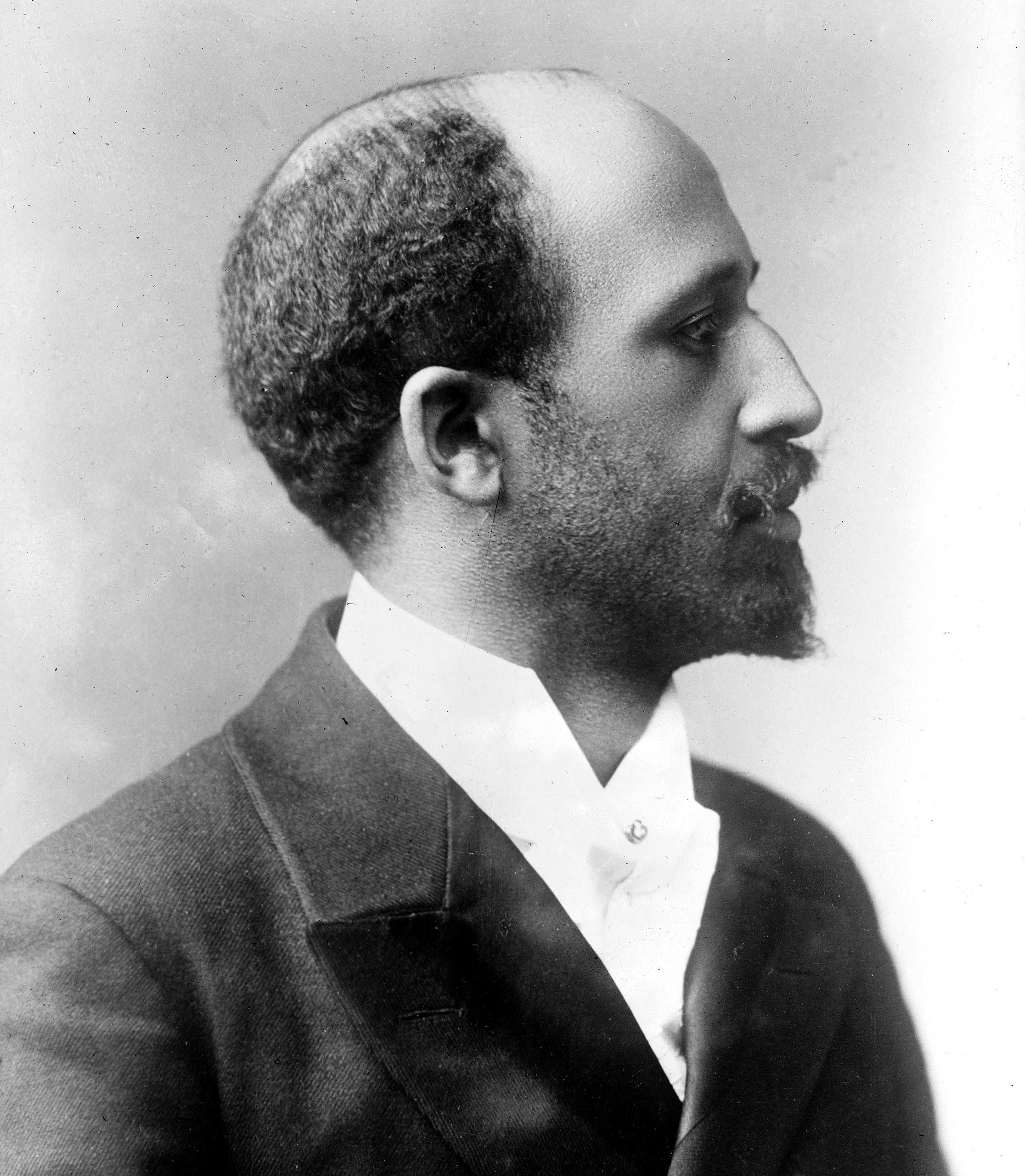 Portrait of American-born author, educator, and activist W. E. B. Du Bois, 1910s.