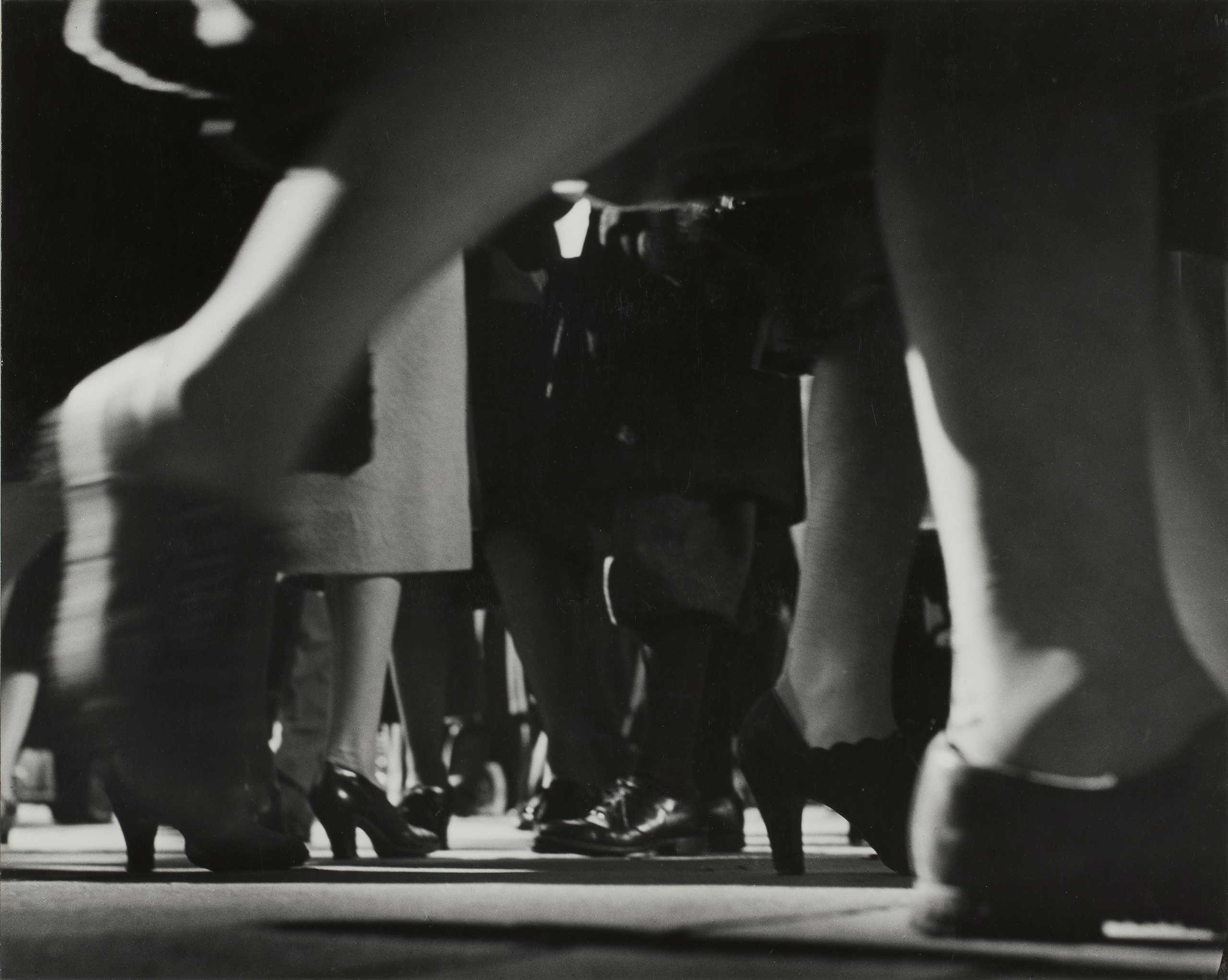 The Thrill of the Chase: The Wagstaff Collection of Photographs at the J.Paul Getty Museum, Wadsworth Atheneum Museum of Art, Conn.: Sept. 10 - Dec. 11                                                                                             (Caption: Running Legs, Forty-second Street, New York, 1940-41)