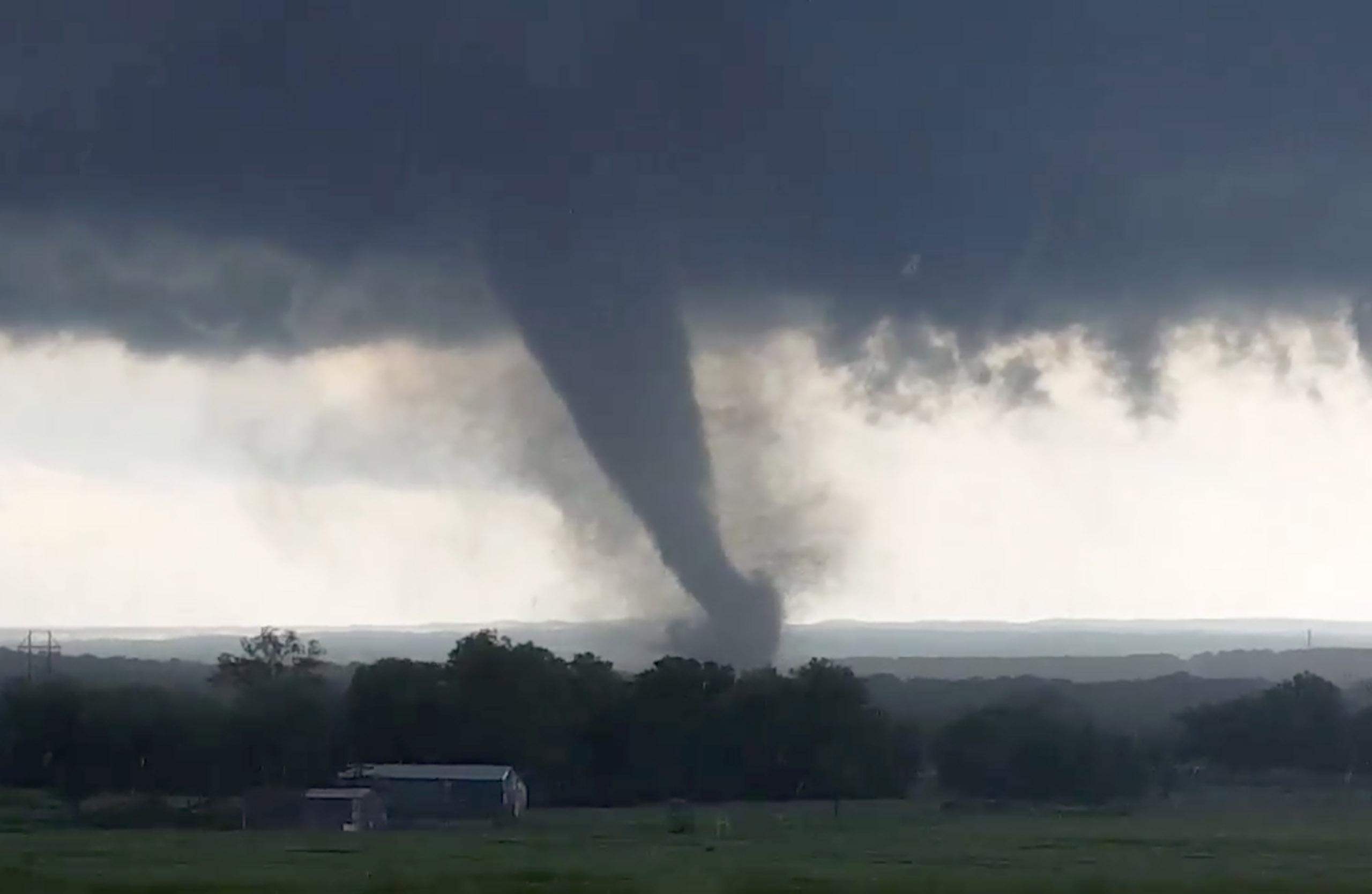 A tornado near Wynnewood, Oklahoma, on May 9, 2016.