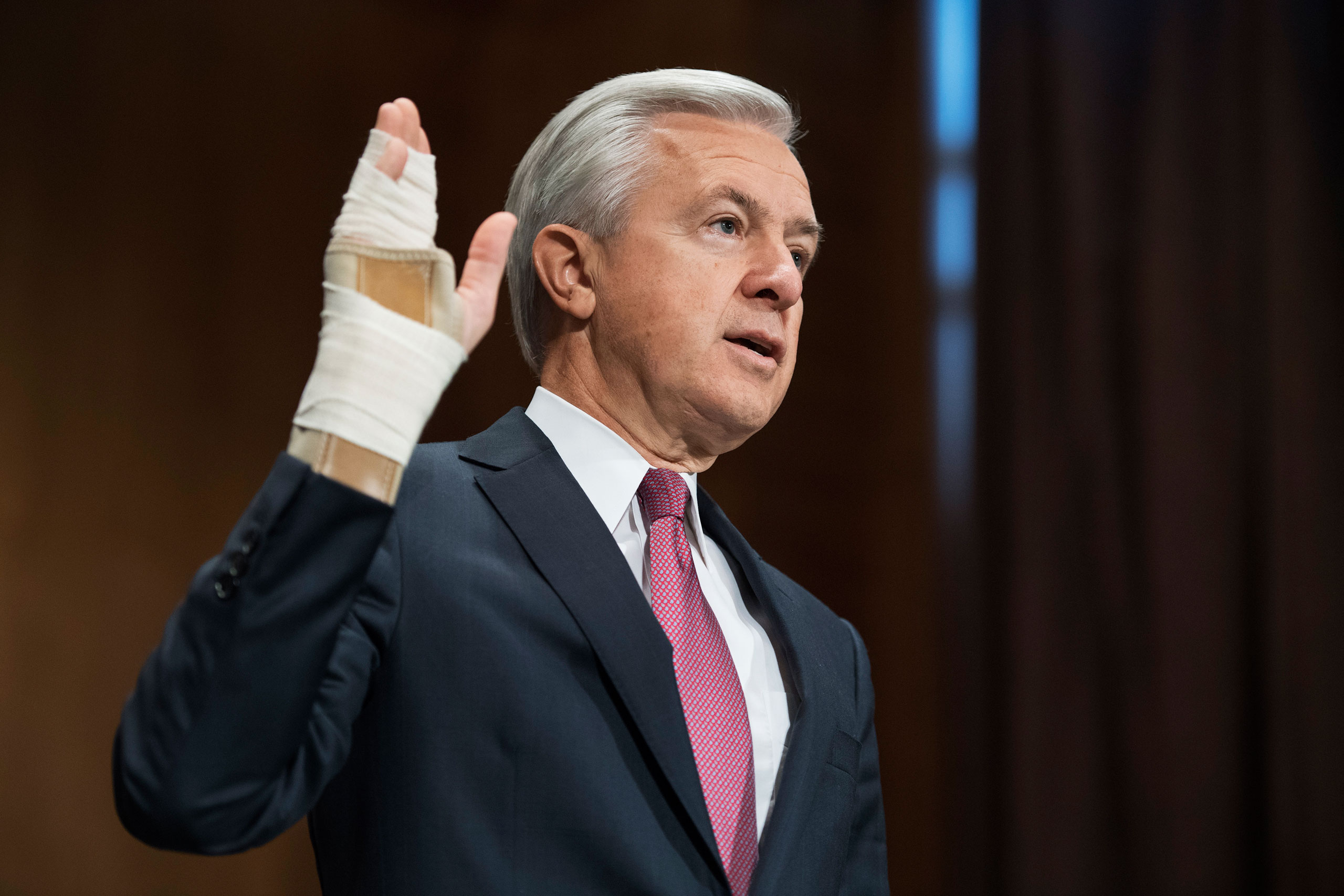 'I am deeply sorry that we failed to fulfill our responsibility,' said John Stumpf, chairman and CEO of Wells Fargo, in a Senate hearing on its massive, multiyear customer fraud