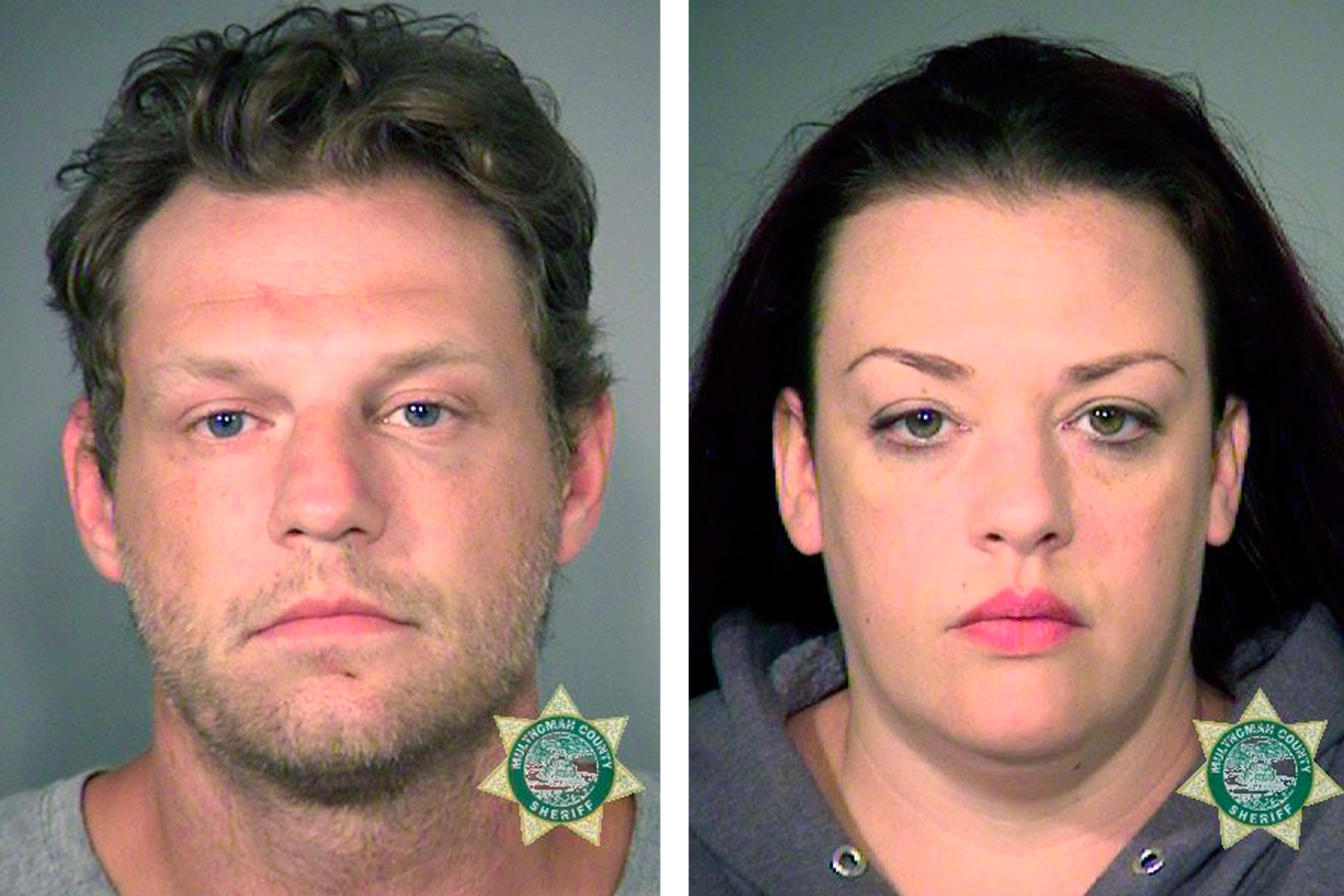 Russell Courtier (left) and Colleen Hunt in undated photos provided by the Multnomah County Sheriff's office.