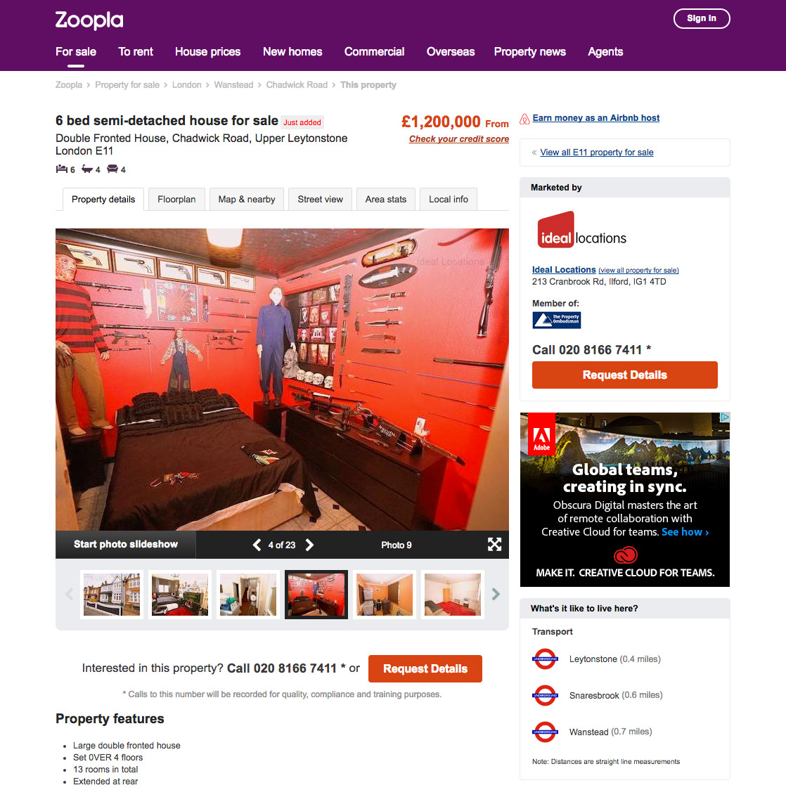 Zoopla on Sept. 9, 2016.