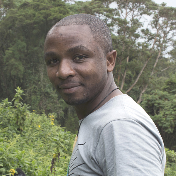 Olivier Nsengimana, at Volcanoes National Park in north-west Rwanda. 2014