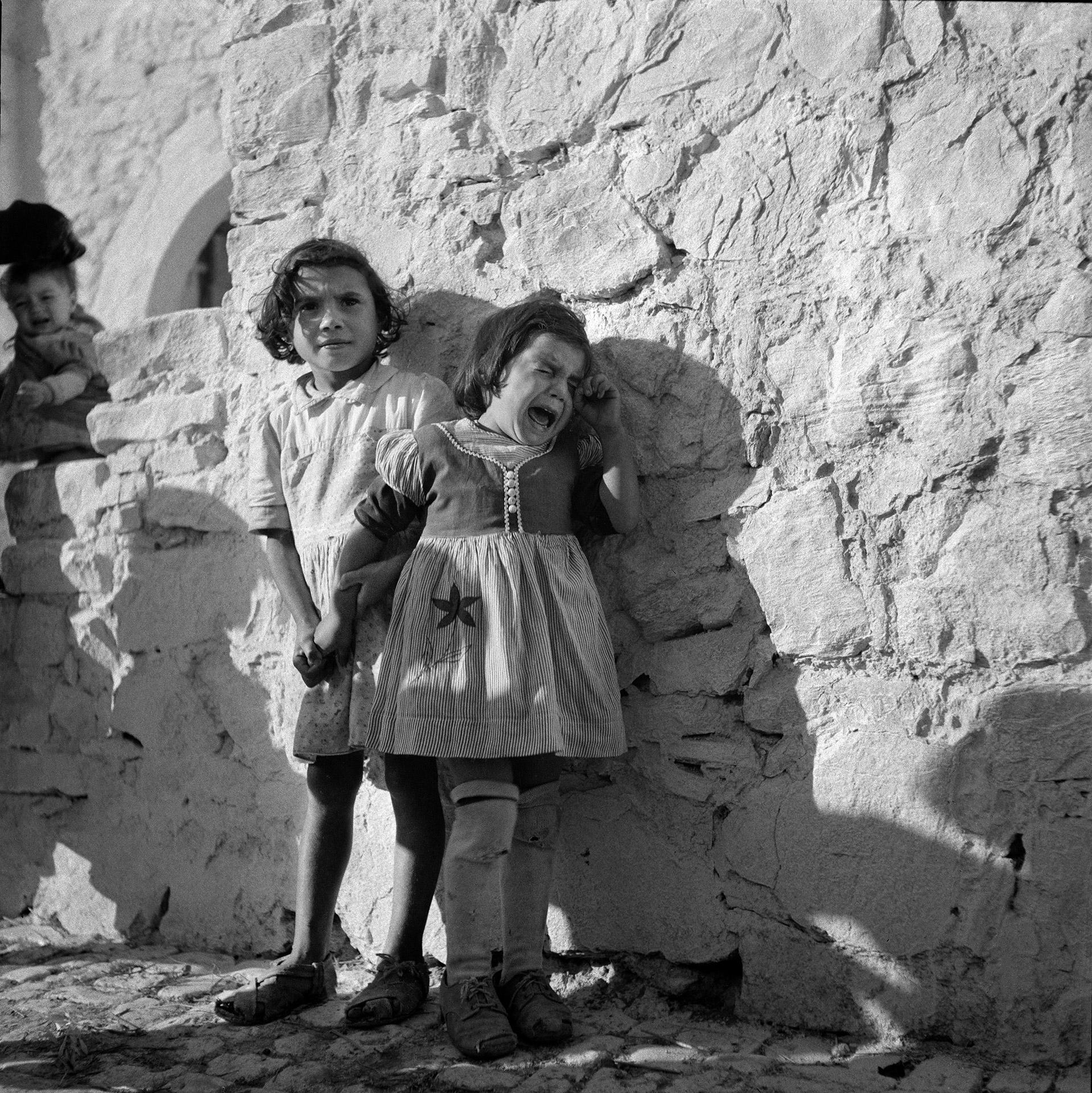Crying Girl, Italy, 1947.