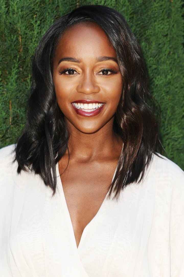Aja Naomi King, on Sept. 25, 2016 in Beverly Hills, Calif.