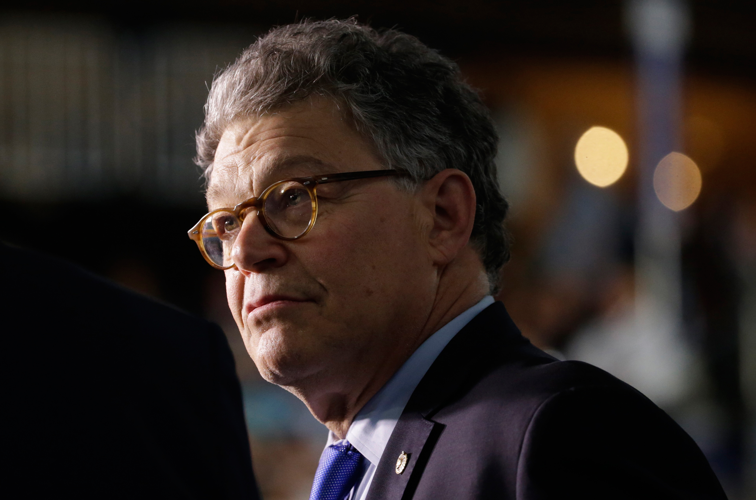 Senator Al Franken is seen at the Democratic National Convention in Philadelphia on July 27, 2016.