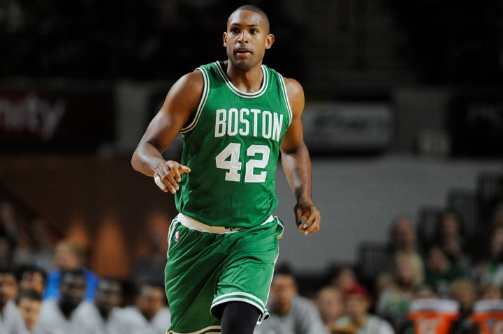 Boston Celtics' Al Horford, on Oct. 4, 2016, in Amherst, Mass.
