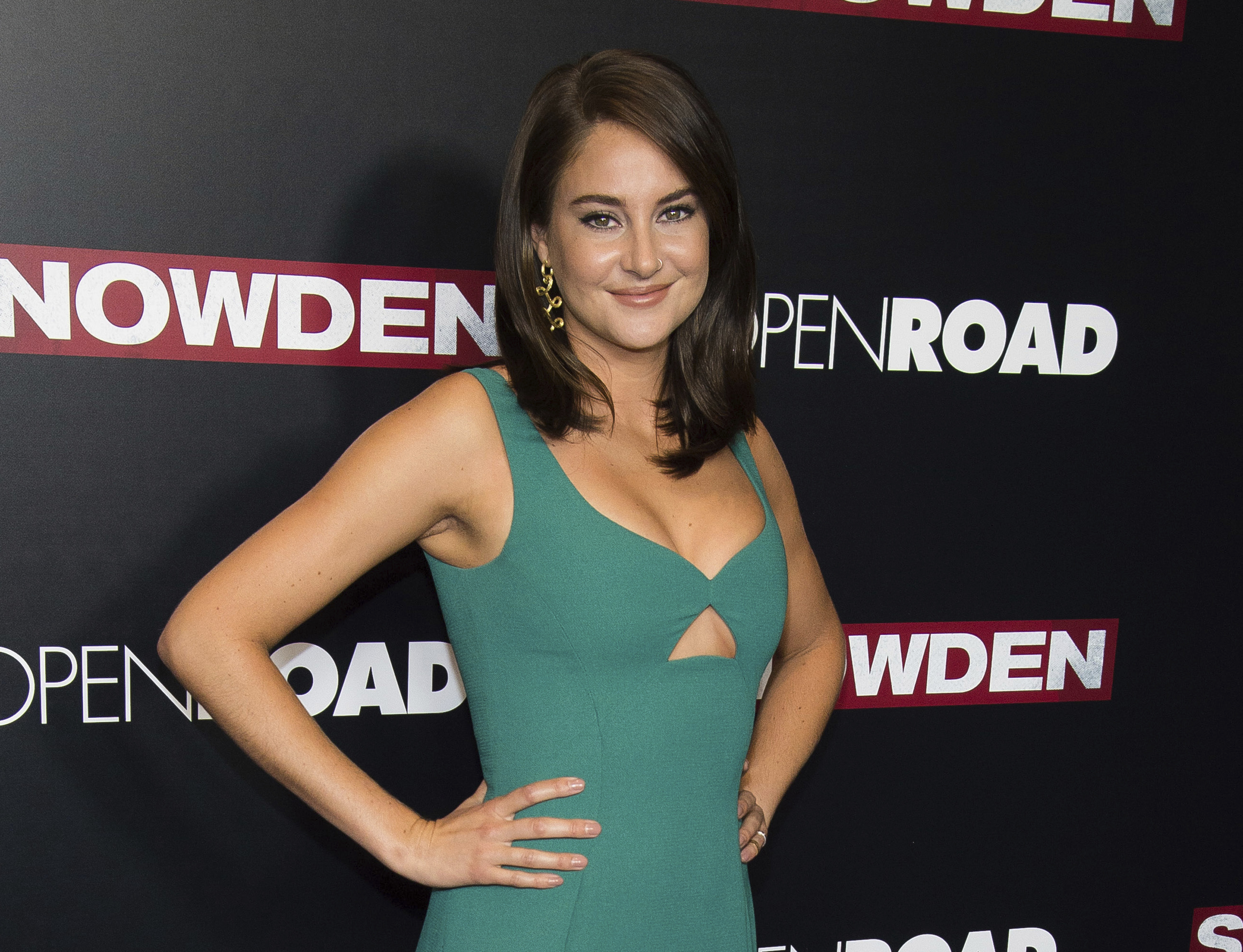 In this Sept. 13, 2016 file photo, actress Shailene Woodley attends the premiere of  Snowden  in New York. Woodley was arrested during a protest of the four-state Dakota Access pipeline in southern North Dakota.
